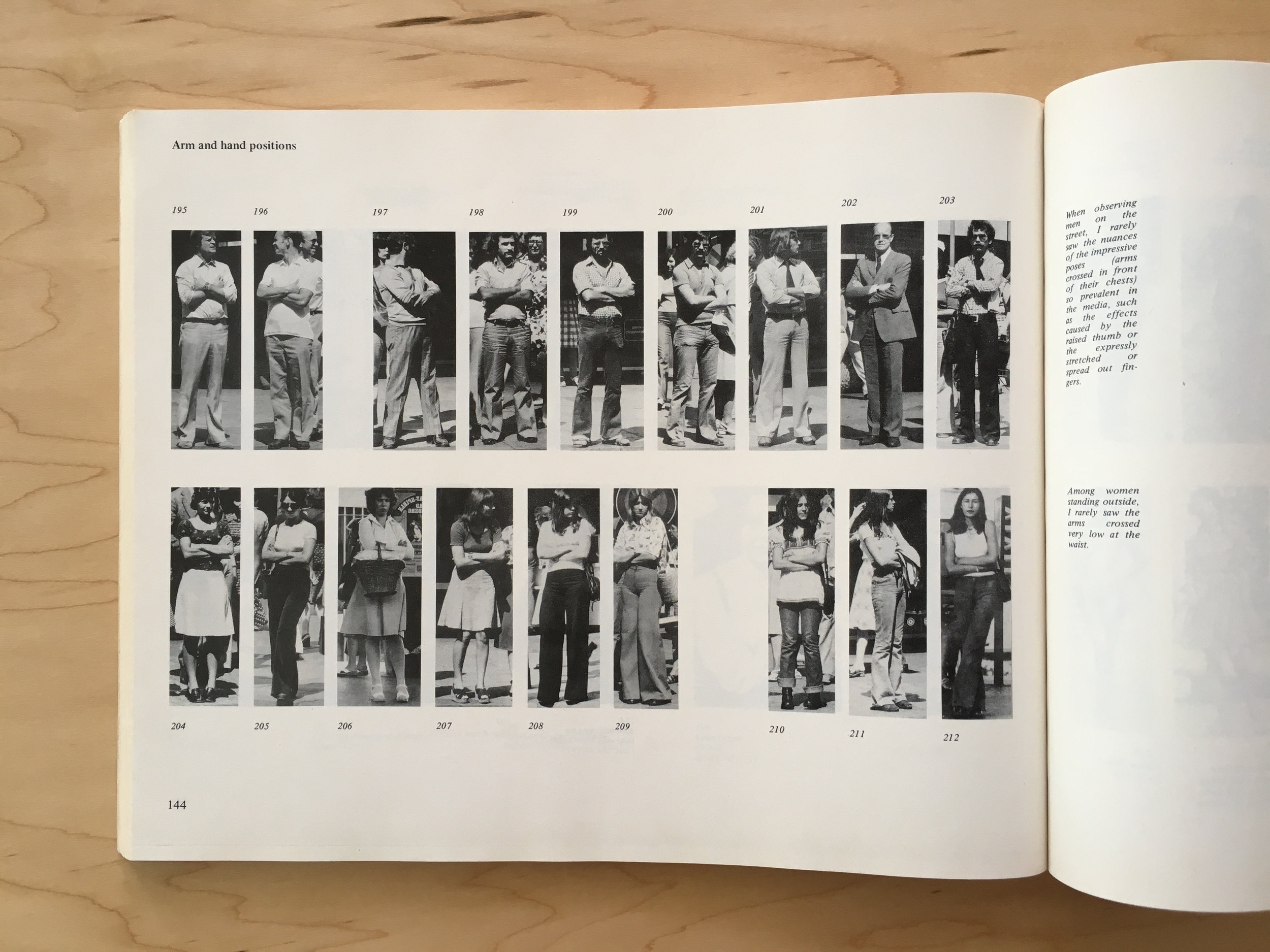 """Detail: Marianne Wex,  'Let's Take Back Our Space': """"Female"""" and """"Male"""" Body Language as a Result of Patriarchal Structure  (Germany: Frauenliteratur Verlag, 1984)."""