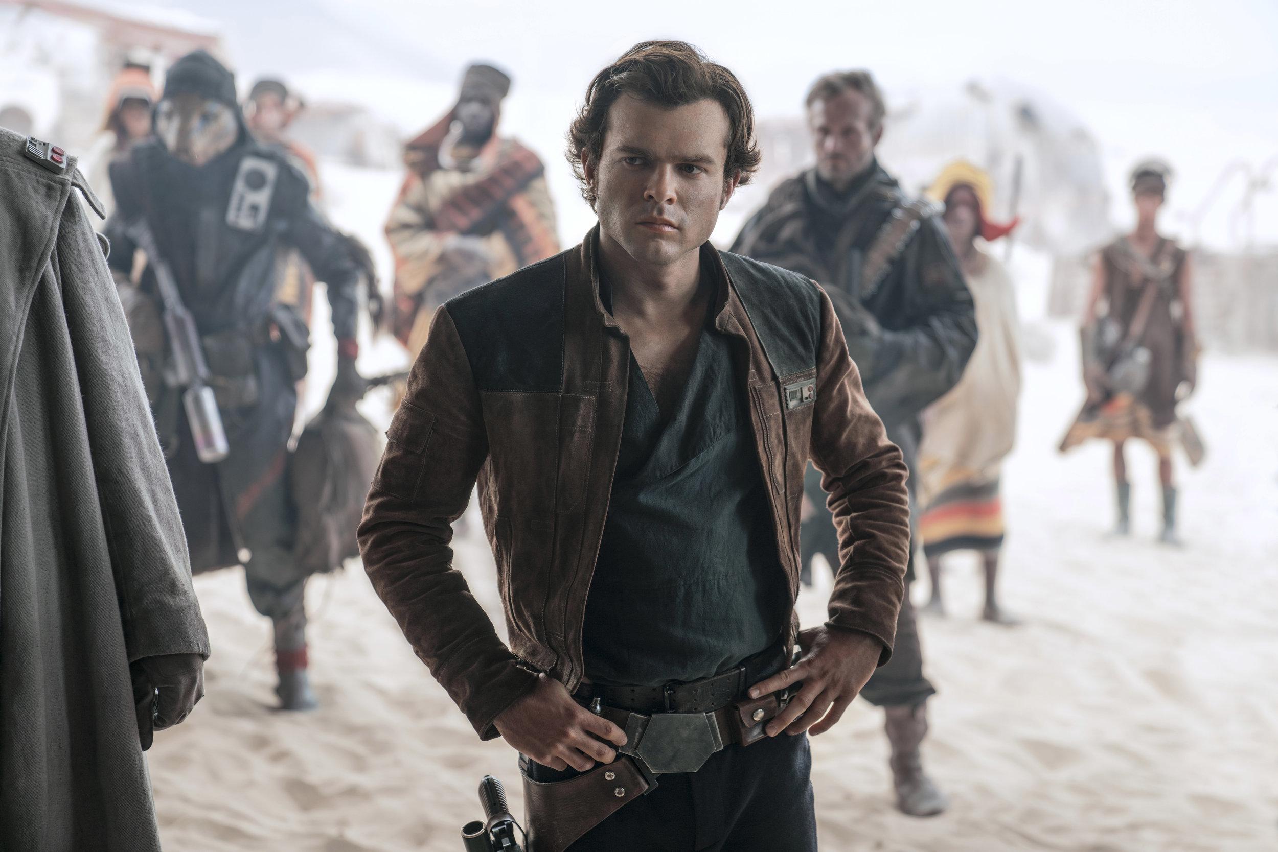 "Alden Ehrenreich plays Han Solo in ""Solo: A Star Wars Story."" (Photo courtesy Lucasfilm/Disney)"