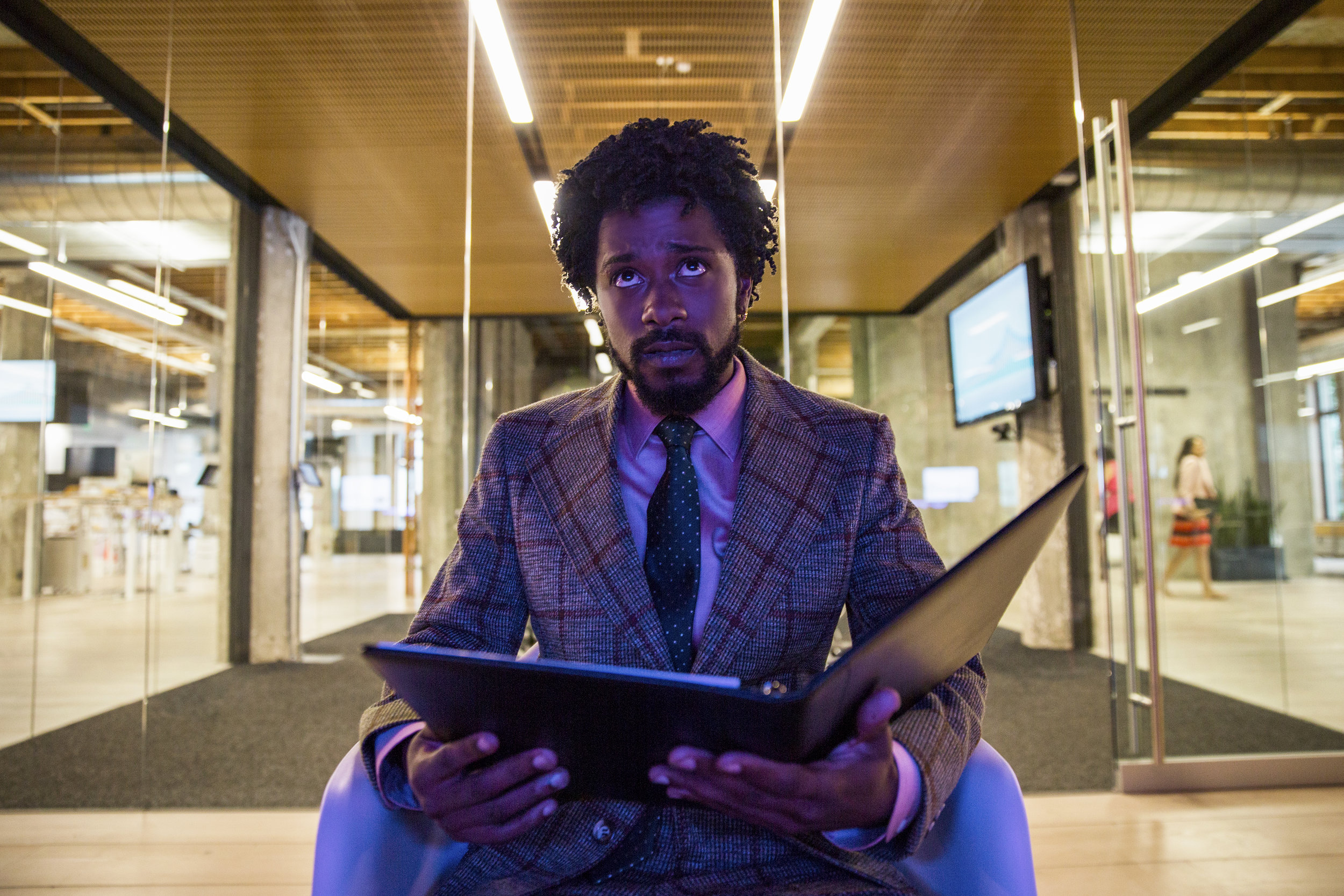 """Lakeith Stanfield in """"Sorry to Bother You."""" (Photo courtesy Peter Prato/Annapurna Pictures)"""