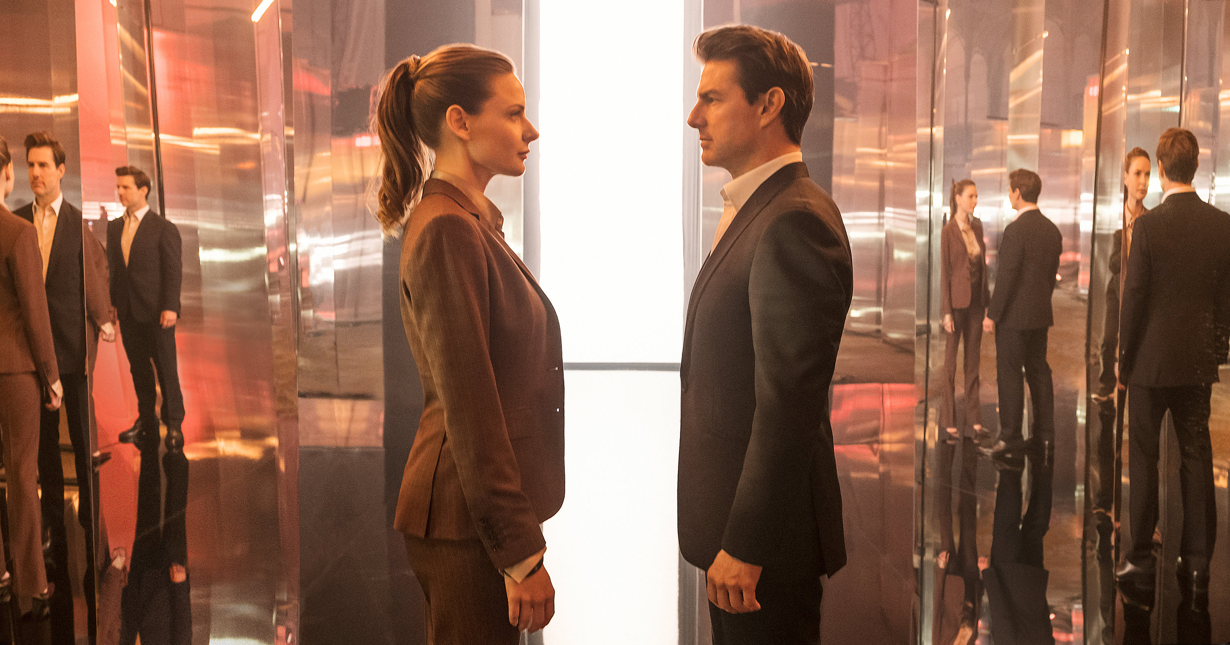 "Rebecca Ferguson and Tom Cruise in ""Mission: Impossible - Fallout"" (Photo courtesy Chiabella James/Paramount Pictures)"