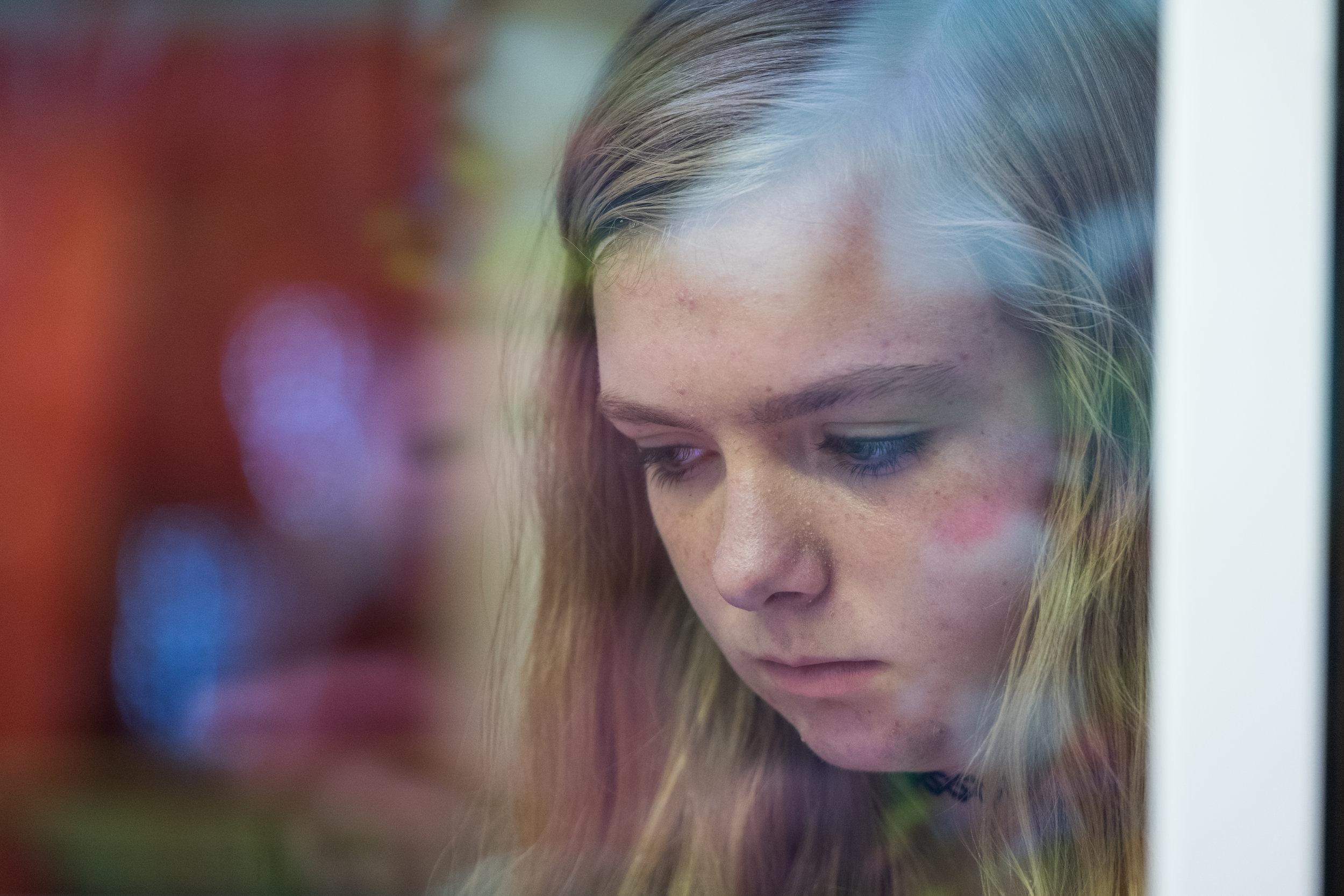 "Elsie Fisher in ""Eighth Grade."" (Photo courtesy Linda Kallerus/A24)"