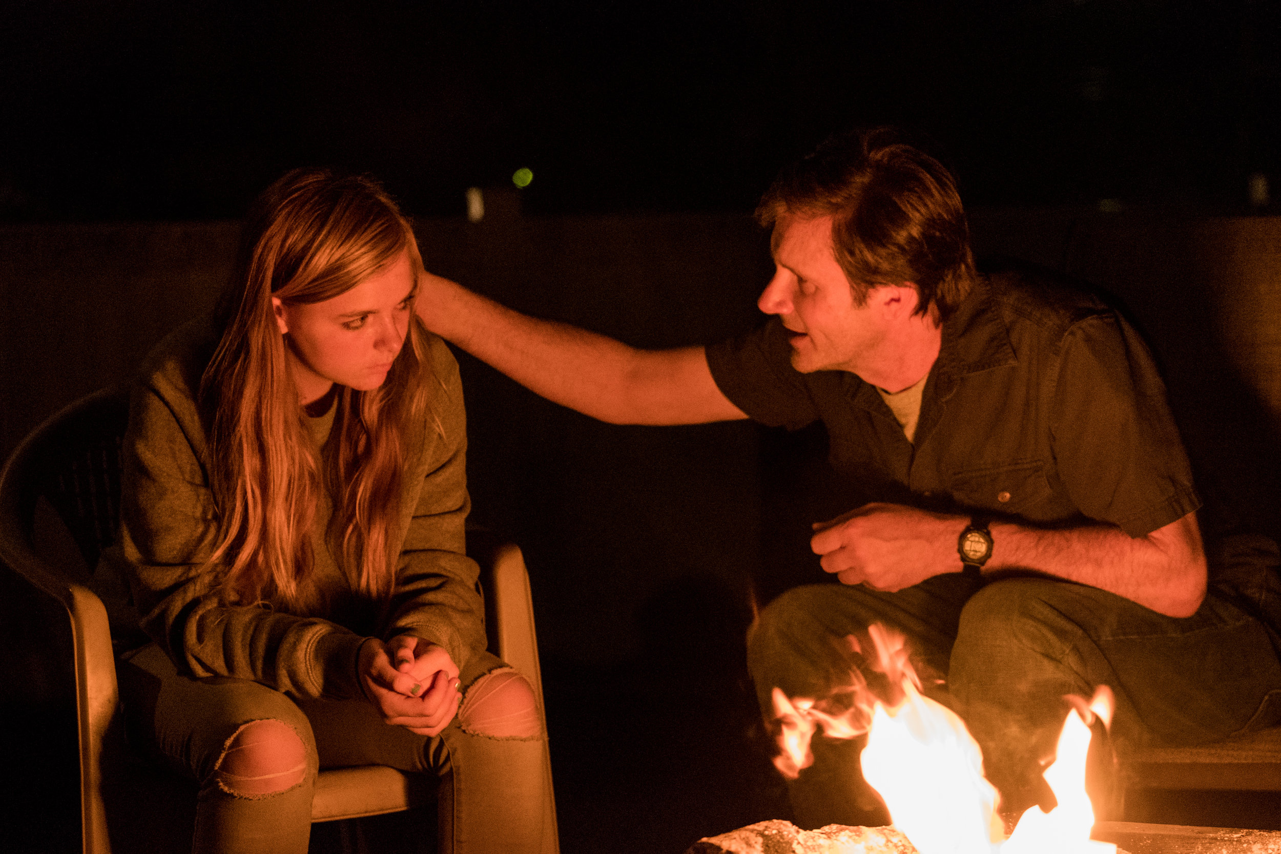 "Elsie Fisher and Josh Hamilton in ""Eighth Grade."" (Photo courtesy Linda Kallerus/A24)"