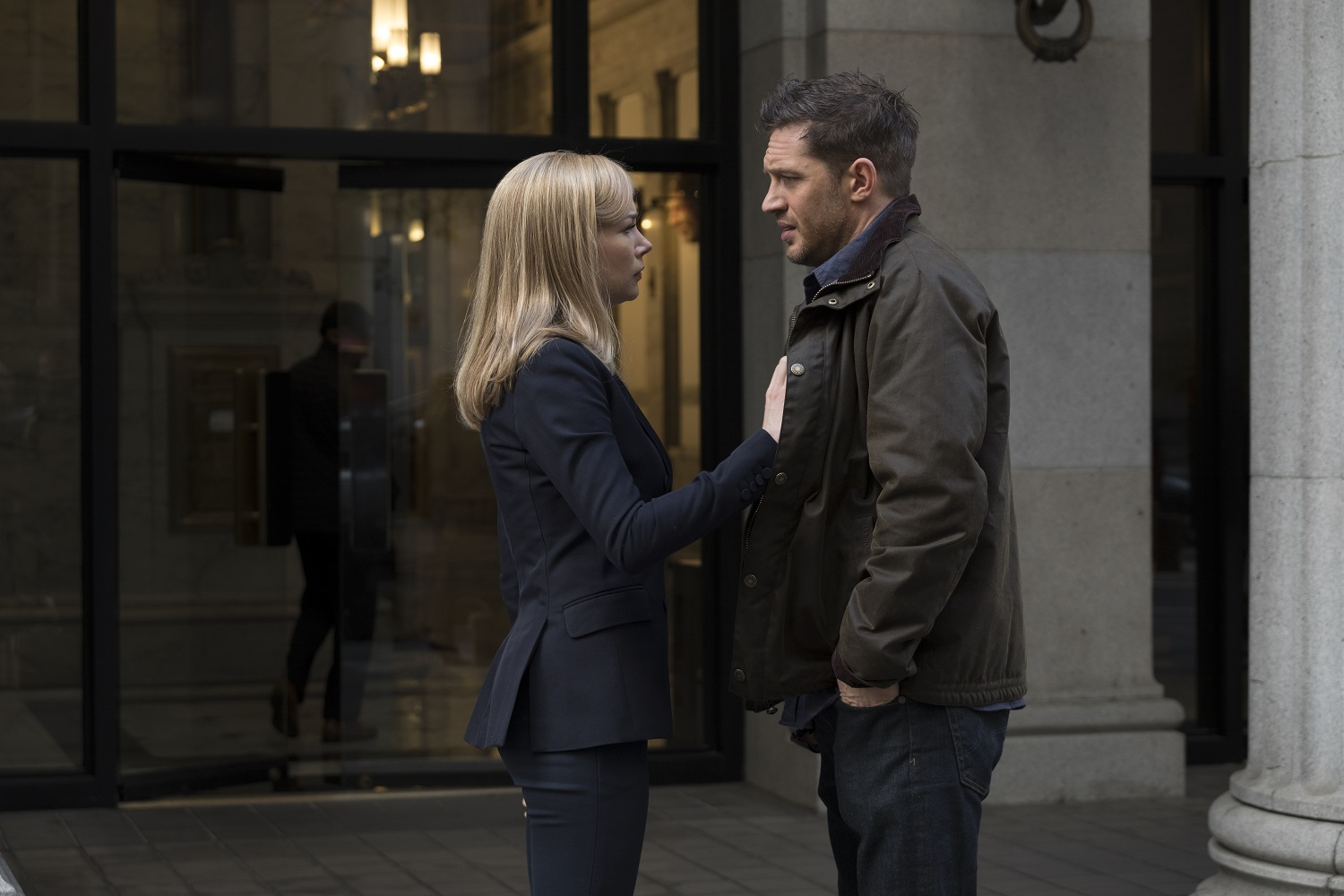 """Michelle Williams and Tom Hardy in """"Venom"""" (Courtesy photo 