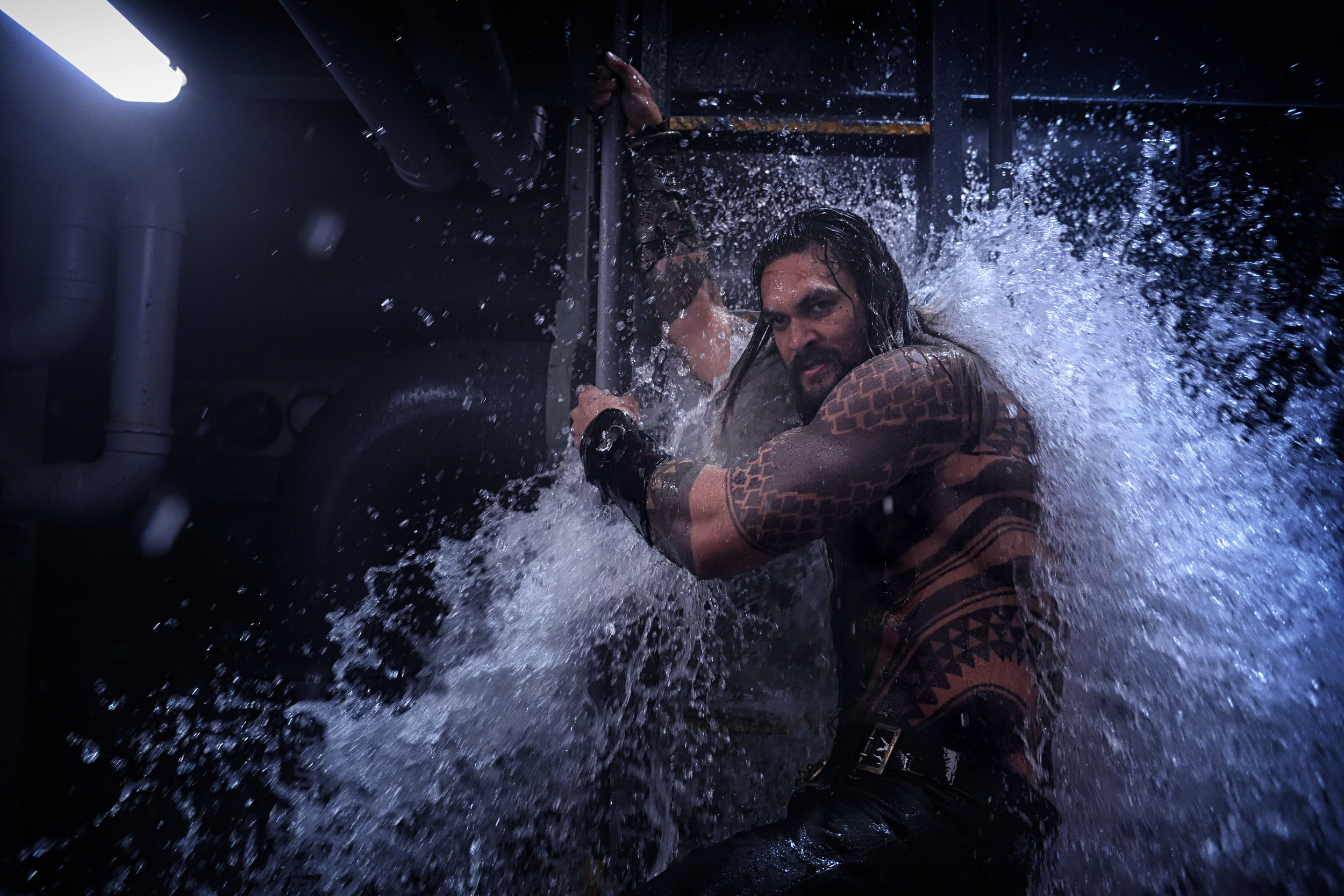 Jason Momoa is Aquaman. (Photo courtesy Warner Bros.)
