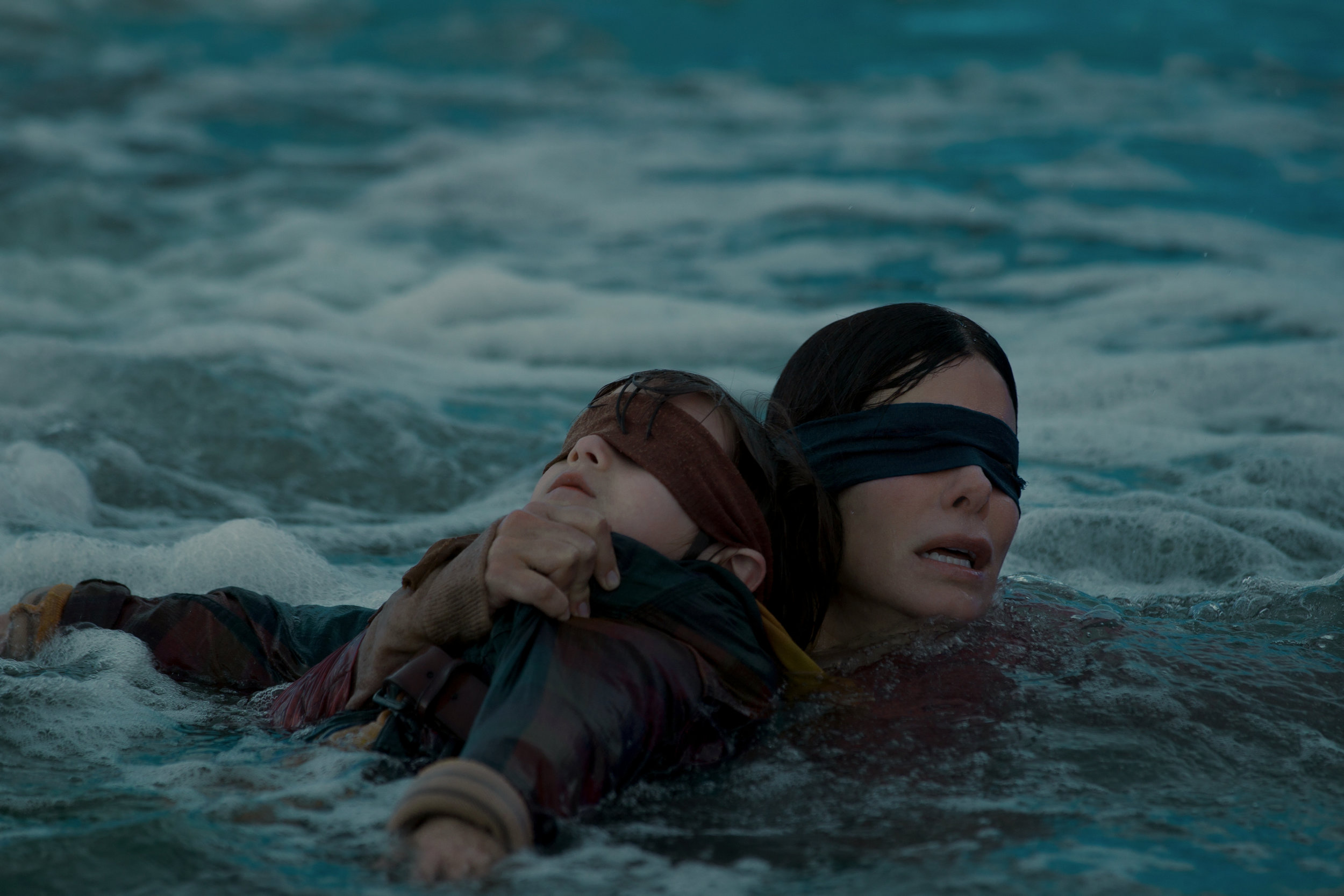 "Sandra Bullock in ""Bird Box."" (Photo courtesy Netflix/Saeed Adyani)"