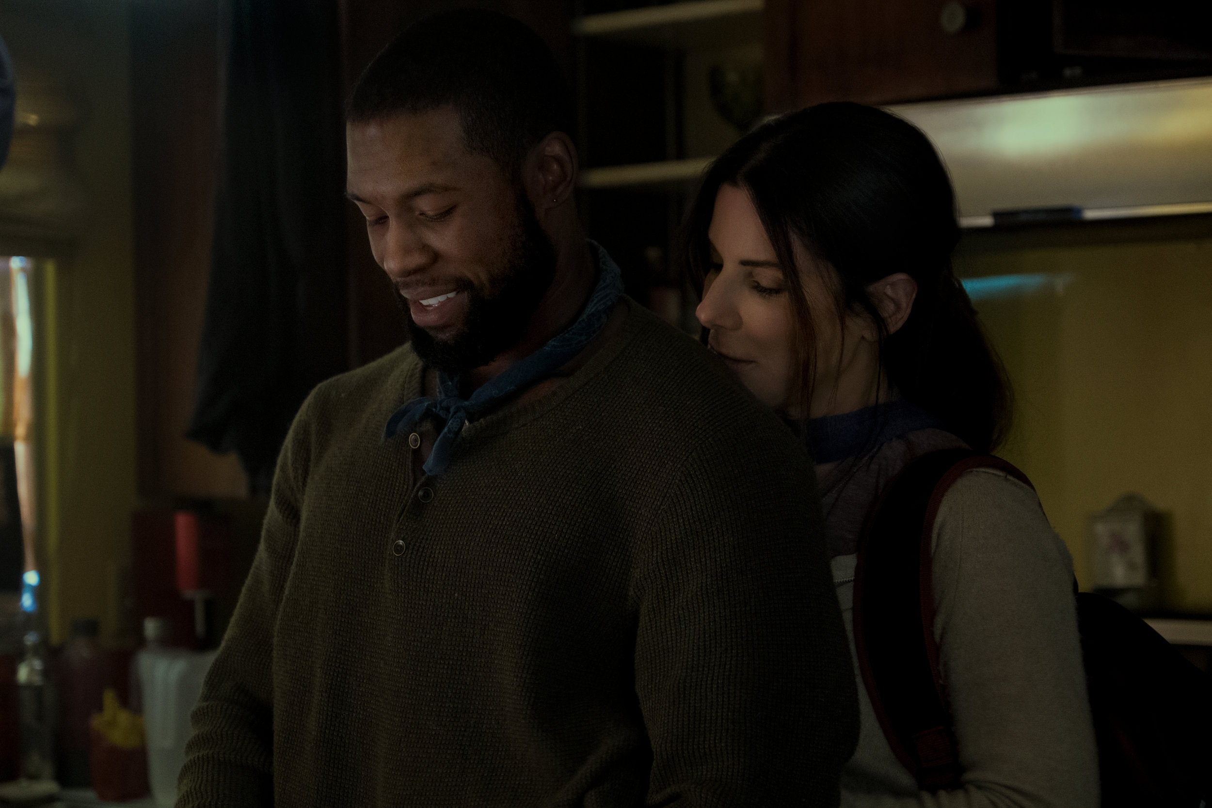 "Trevante Rhodes and Sandra Bullock in ""Bird Box."" (Photo courtesy Netflix/Merrick Morton)"