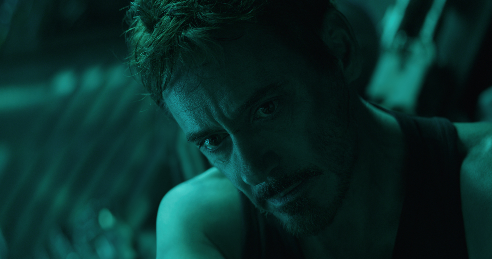 Robert Downey Jr. looking worried in 'Avengers: Endgame'.' (Photo courtesy Marvel/Disney)