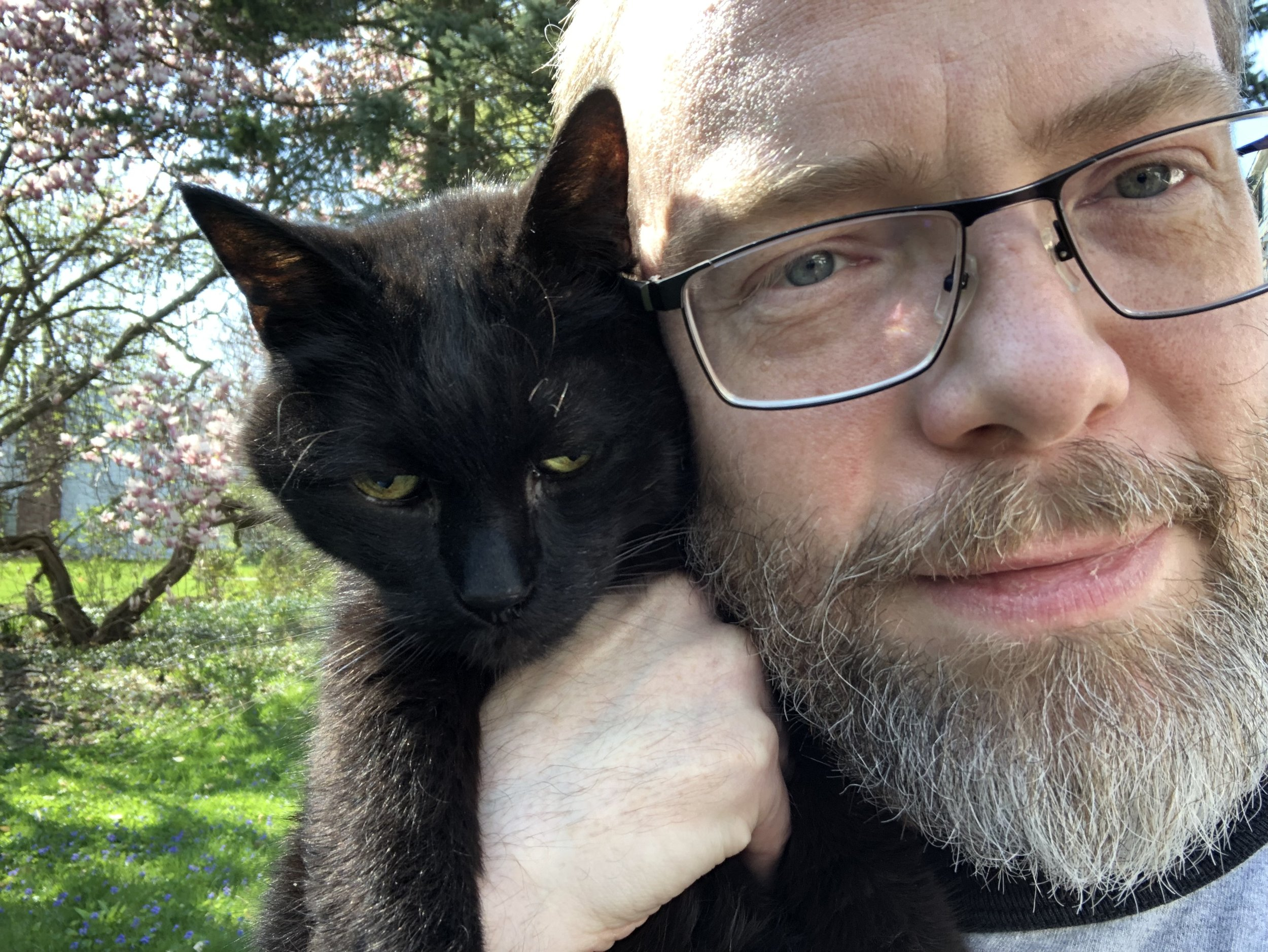 Moby and me, in the final weeks of his life.