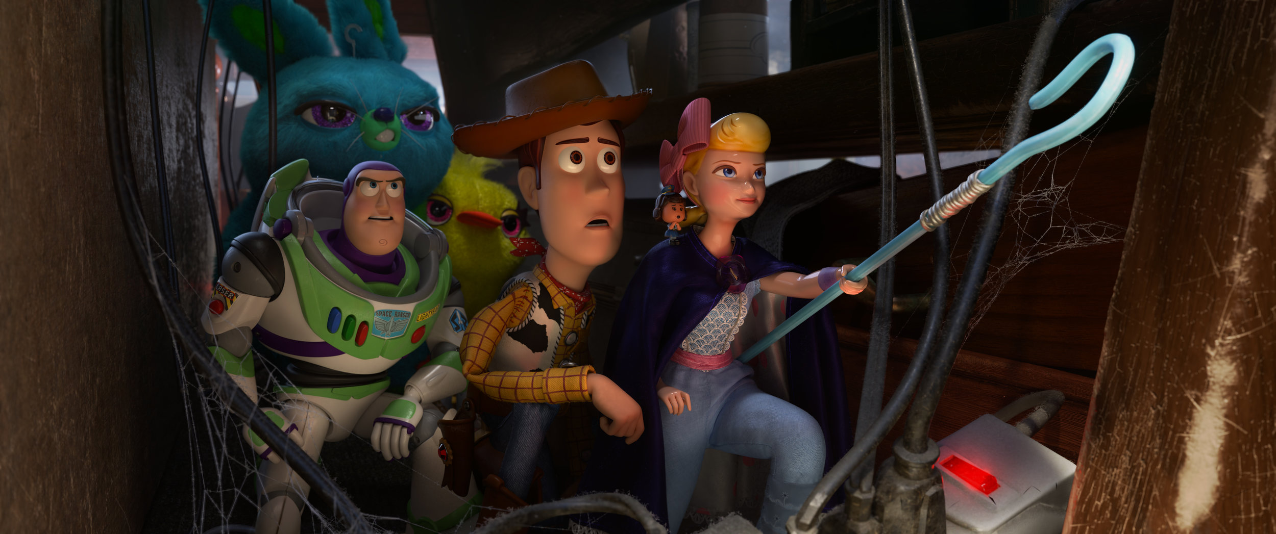 The exquisite lighting of this scene from 'Toy Story 4' perfectly captures the expressions of playthings looking ahead to a terribly uncertain future.  ( Courtesy photo / Disney/Pixar)