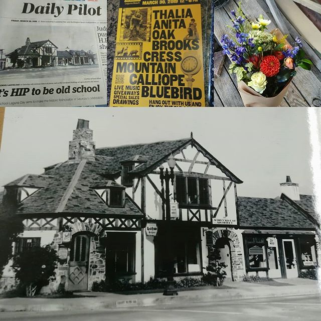 Tommorow is Old School Laguna Day in the HIP distirct! Check out our shop on the front page of the daily pilot, and make sure to come by in person tommorow. Our building was built in the 1920s and is a historic landmark. We are proud to call it home. Recieve a free bouquet💐 with any botique purchase!  #bestoflagunabeach #bestlagunaflowers #hipdistrict #lagunabeach #florist #oldschoollaguna #historicbuildings #historicbuilding