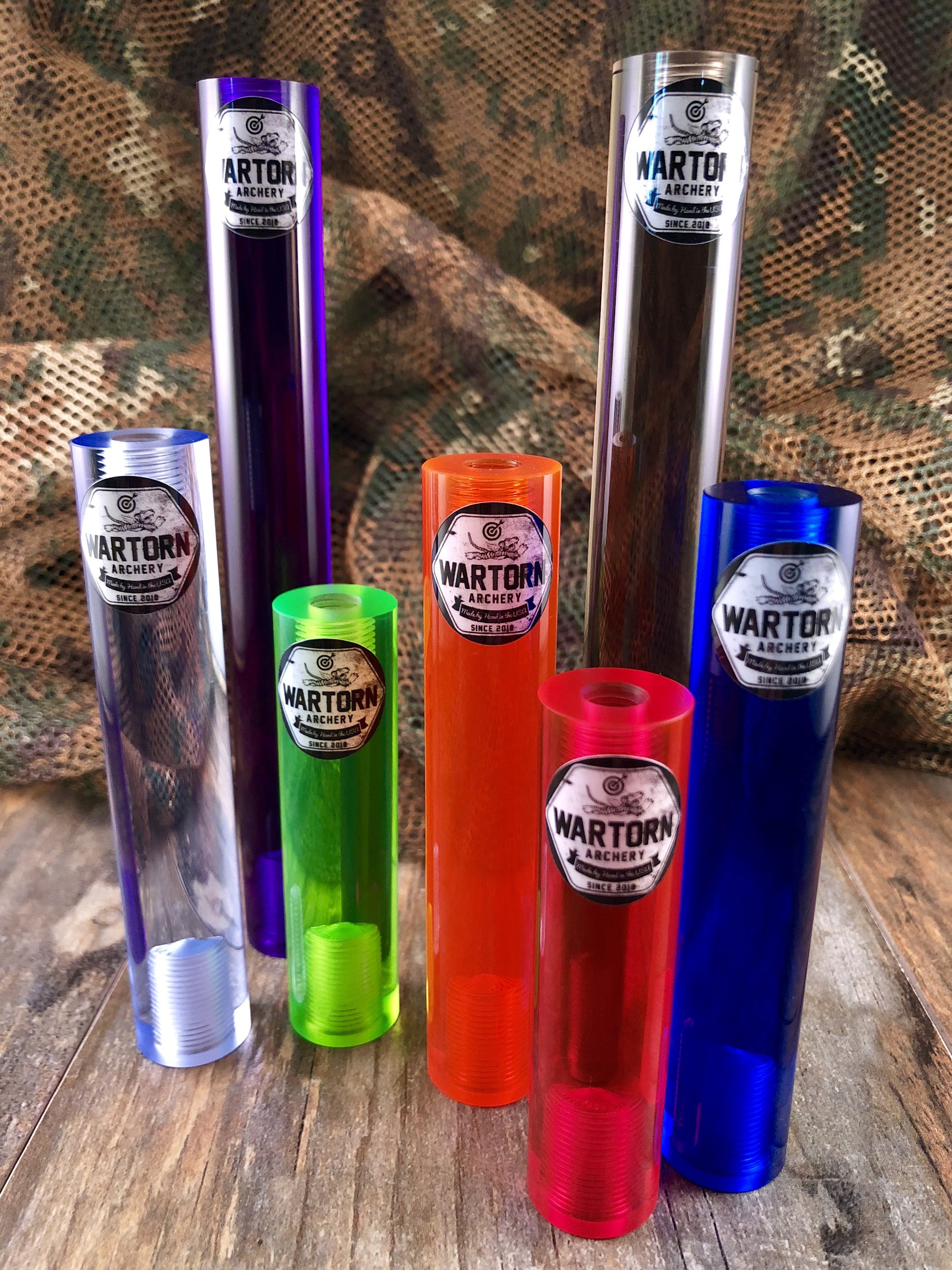 War-Torn™ CNC Cast Machined Acrylic Body - Customize your bow like never before. Pick from an array of striking transparent colors made from strong, cast, machined acrylic. Cut in standard lengths of 3