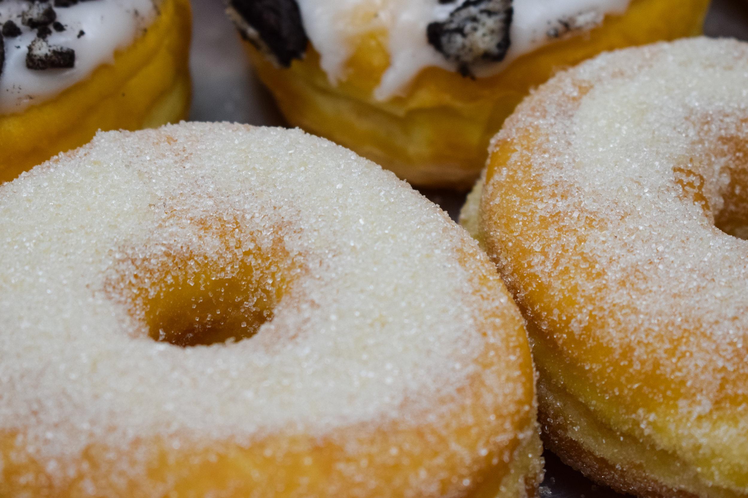 Raised Glazed - Sugar Raised - Cake - $1.15Plain, Cinnamon & Powdered ,Traditional Raised – Glazed or Sugar Ring