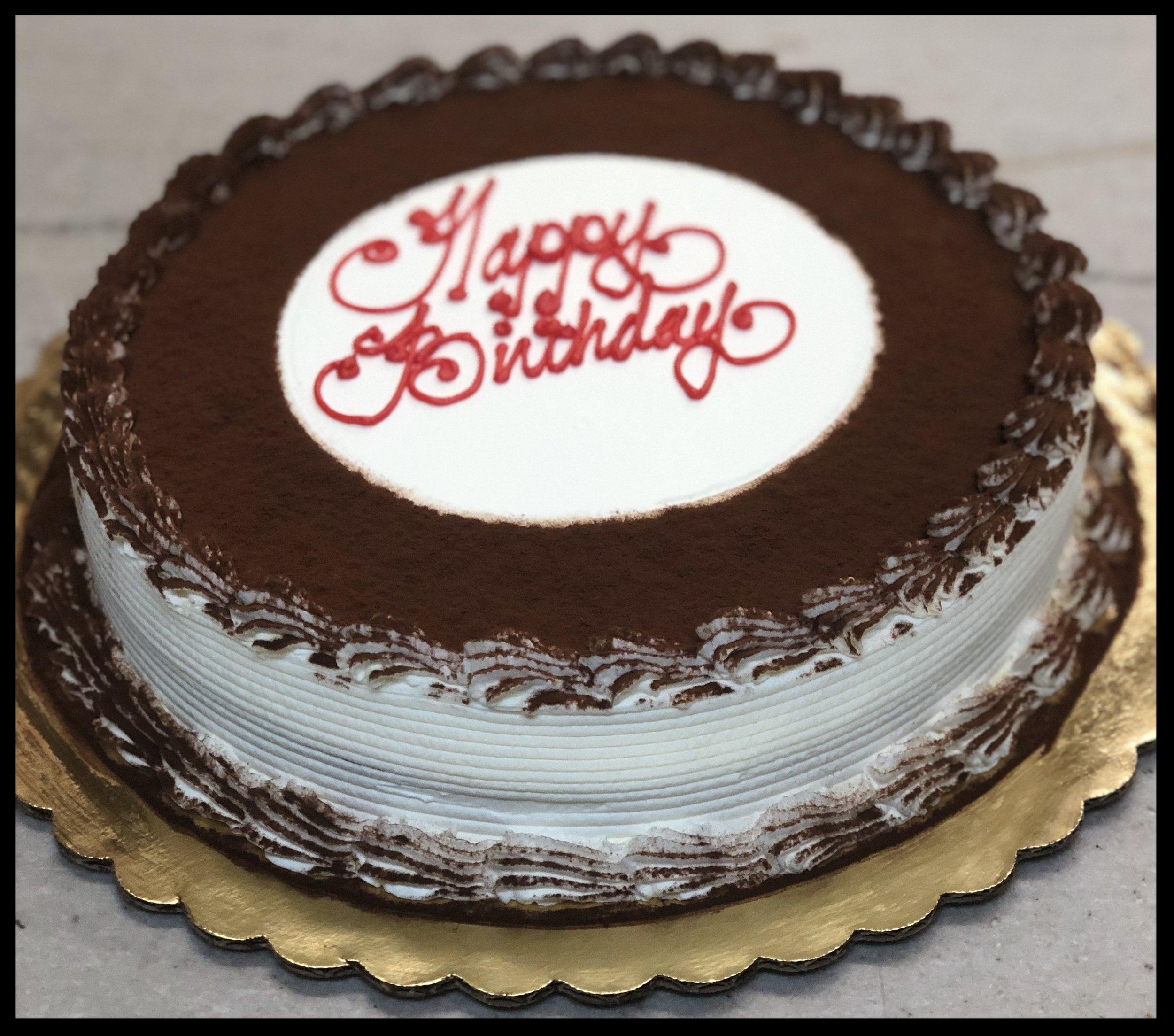Tiramisu Cake - Just like the tiramisu slices we sell at the counter, only bigger... and round.
