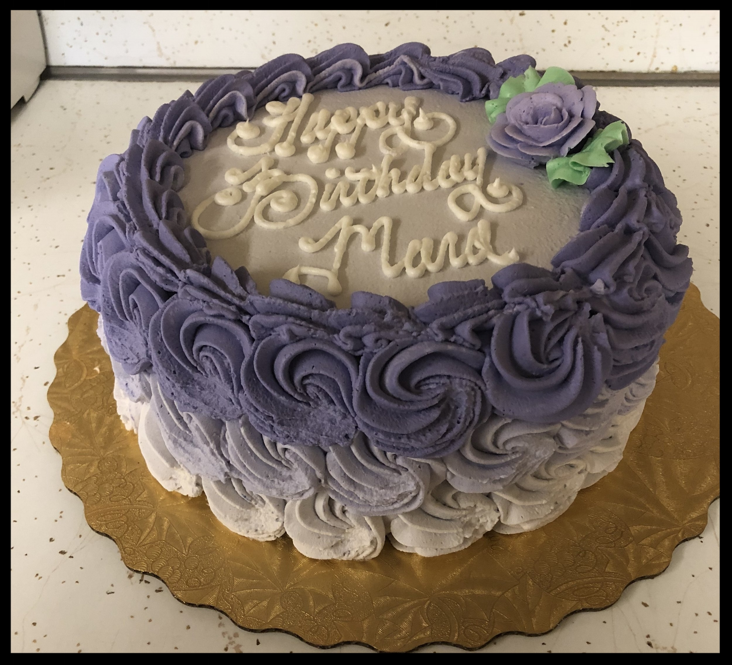 Ombre Swirl Cakes - $10 extra charge.