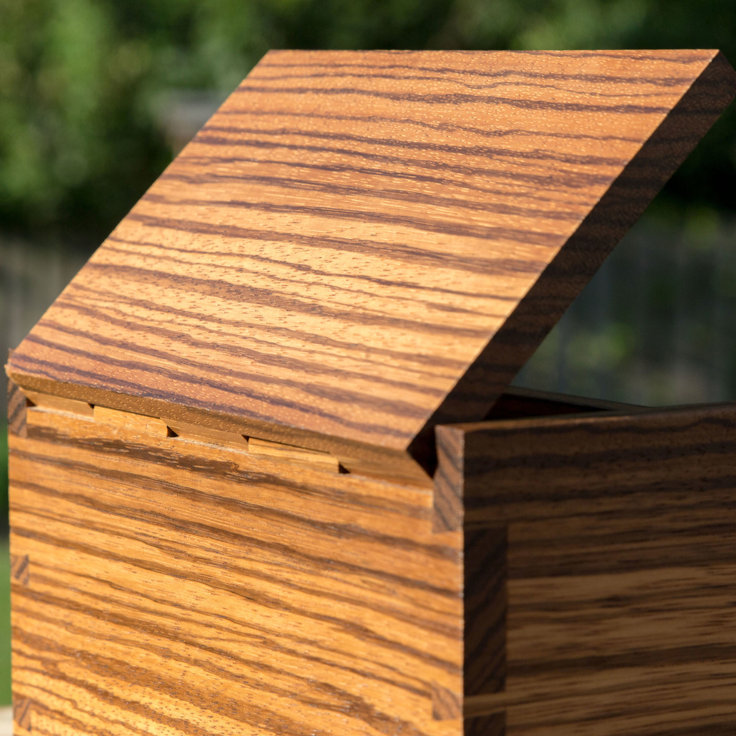 Handmade box by David Ryan Scott with all fitted joints. No screws or nails!