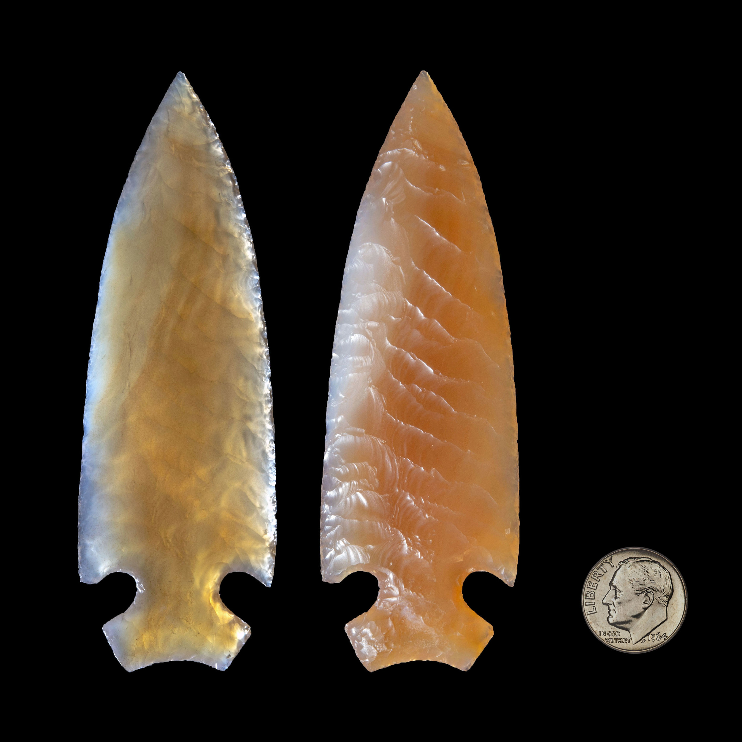 Arrowheads hand carved by David Ryan Scott