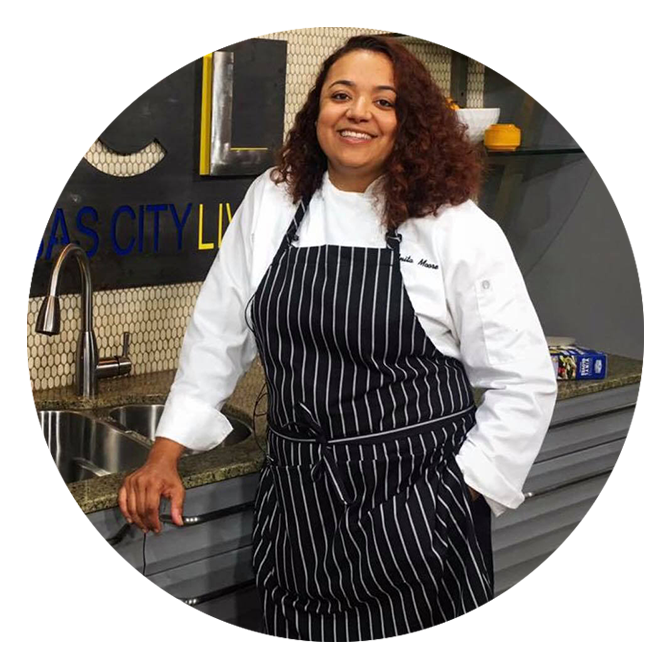 Chef Anita Moore's signature cooking is a fusion of traditional flavors of the Deep South, spices, and staples from Cajun cuisine with a contemporary flair, yielding incredibly delicious results. Moore's family inspires her fierce ambition. She's a dedicated wife, mother of four and daughter. -