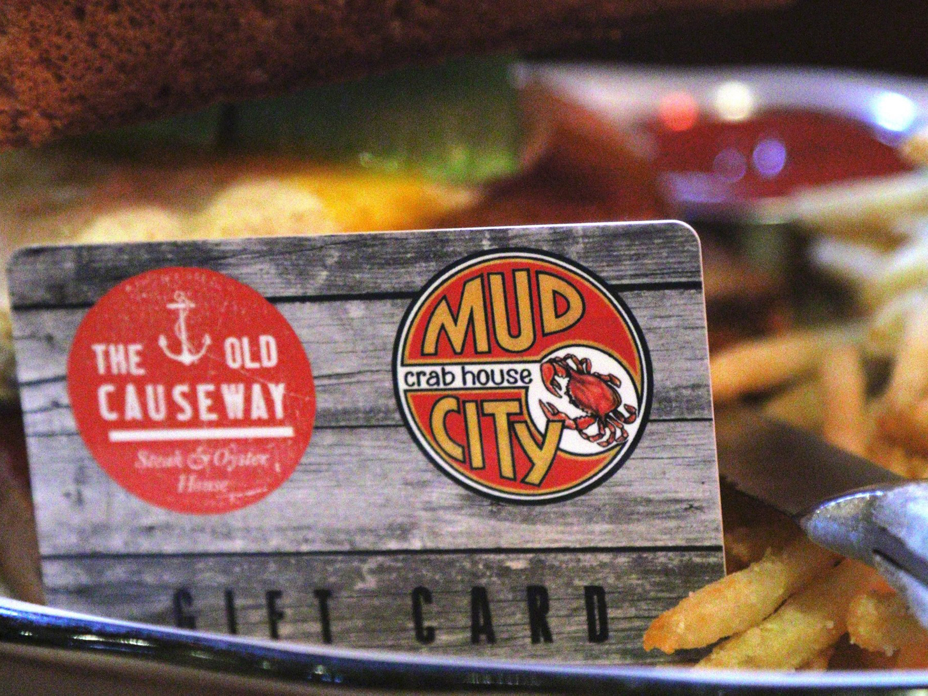 The Mud City/Old Causeway gift card is a sure shot gift.