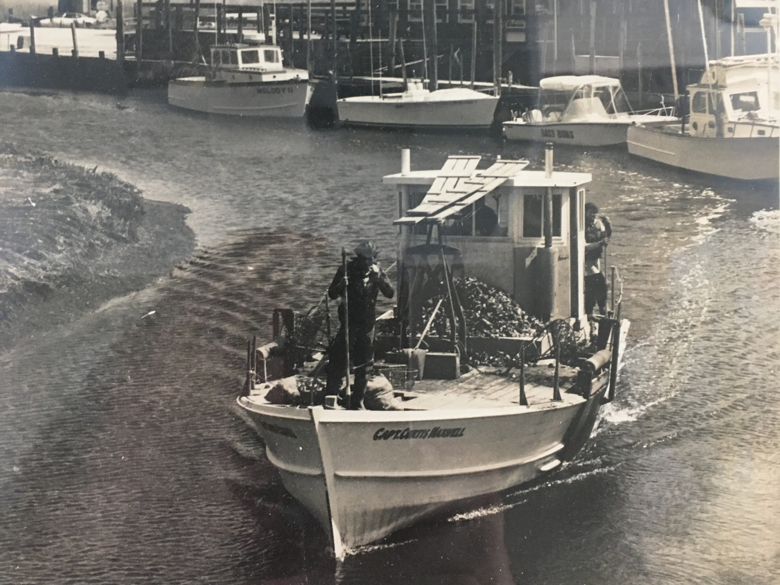 The original clammers when wild clams filled the bay. Courtesy Scales.