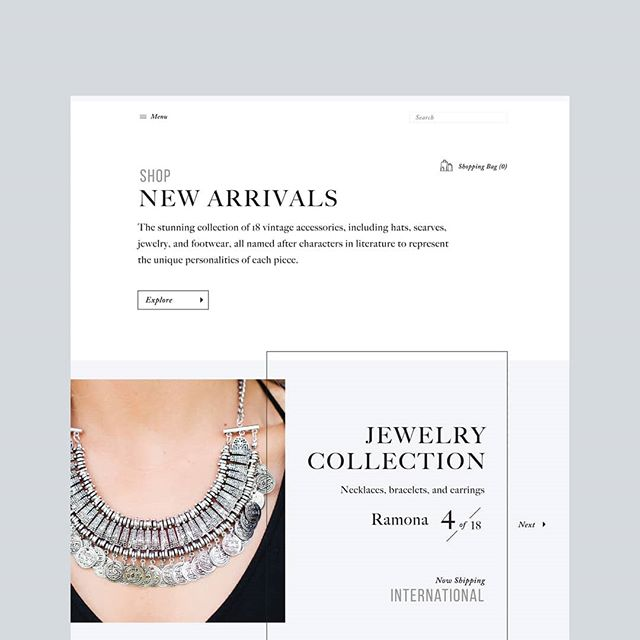 SHOP / Loving this ecommerce mockup by one of our designers. Retail sites can be functional AND beautiful!