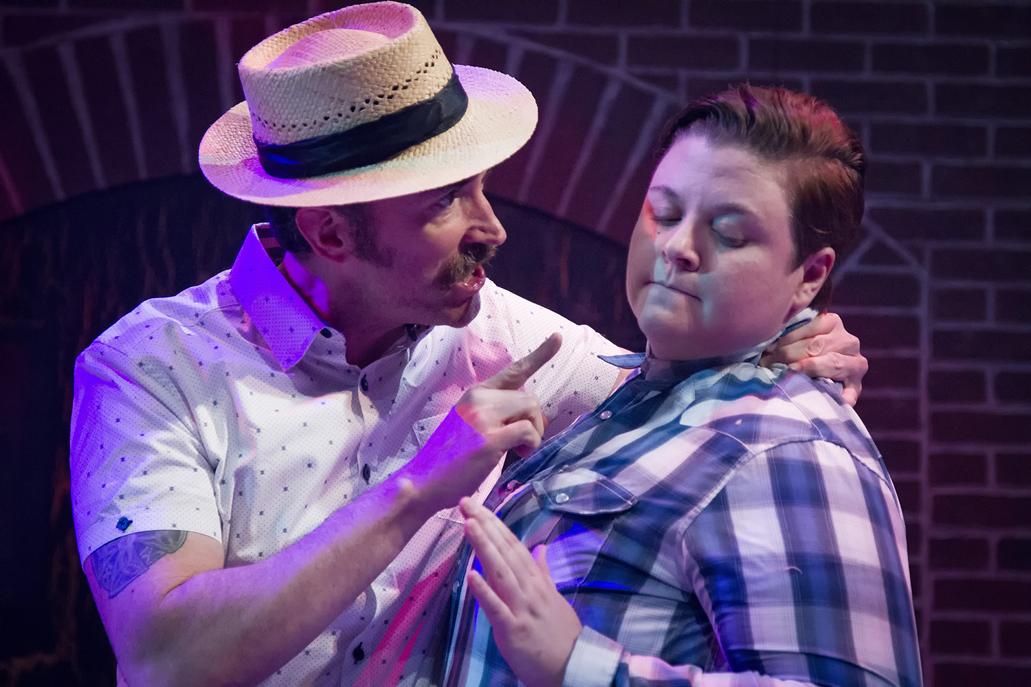 Gregory Lush and Kelsey Leigh Ervi in HIT THE WALL at WaterTower Theatre photo by Jason Anderson.jpg