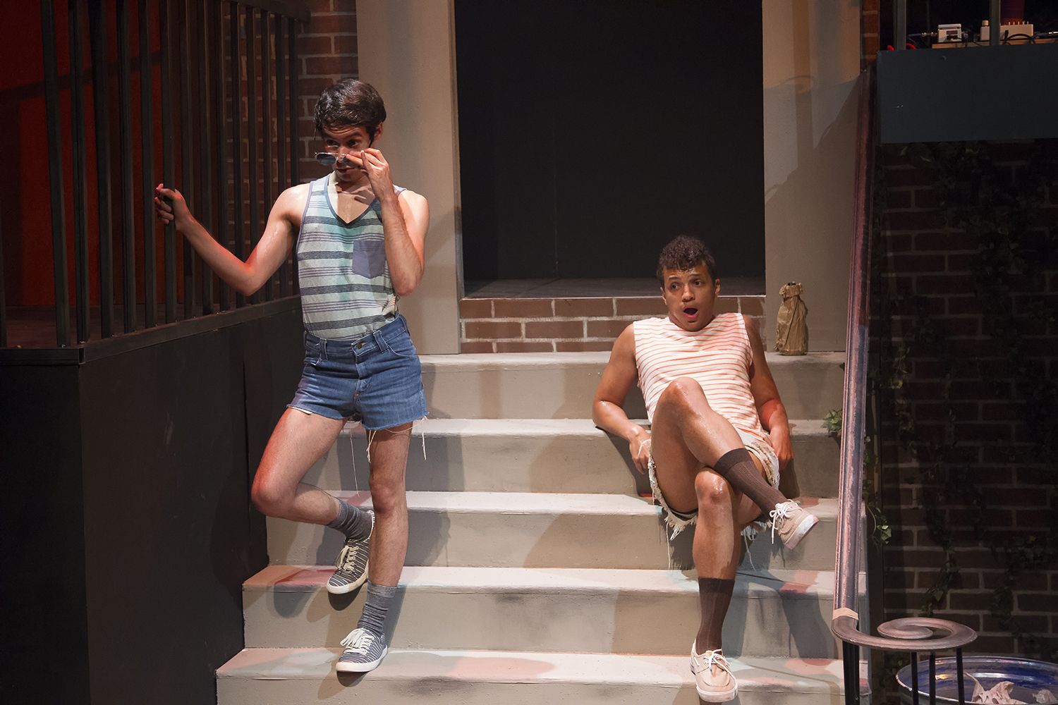 Joshua Gonzales and Rashaun Sibley in HIT THE WALL at WaterTower Theatre photo by Jason Anderson.jpg