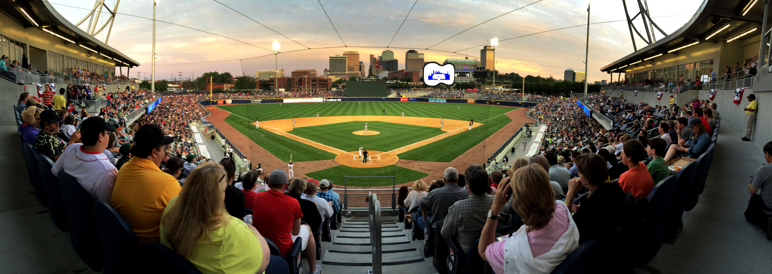 Opening night at First Tennessee Park, home of The Sounds baseball team, April 17, 2015 in Nashville, Tenn.