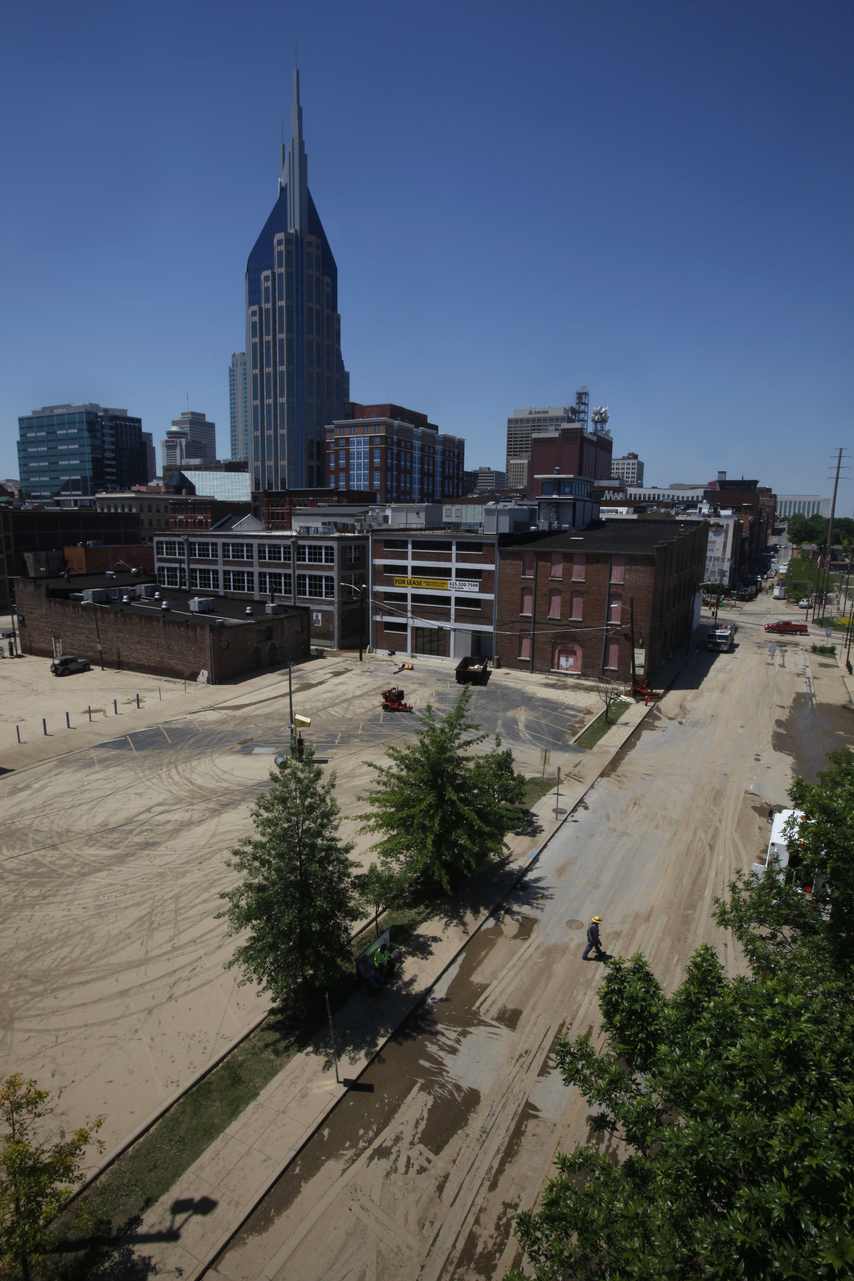 Downtown streets dry out, covered in mud, Thursday, May 6, 2010 in Nashville, Tenn.
