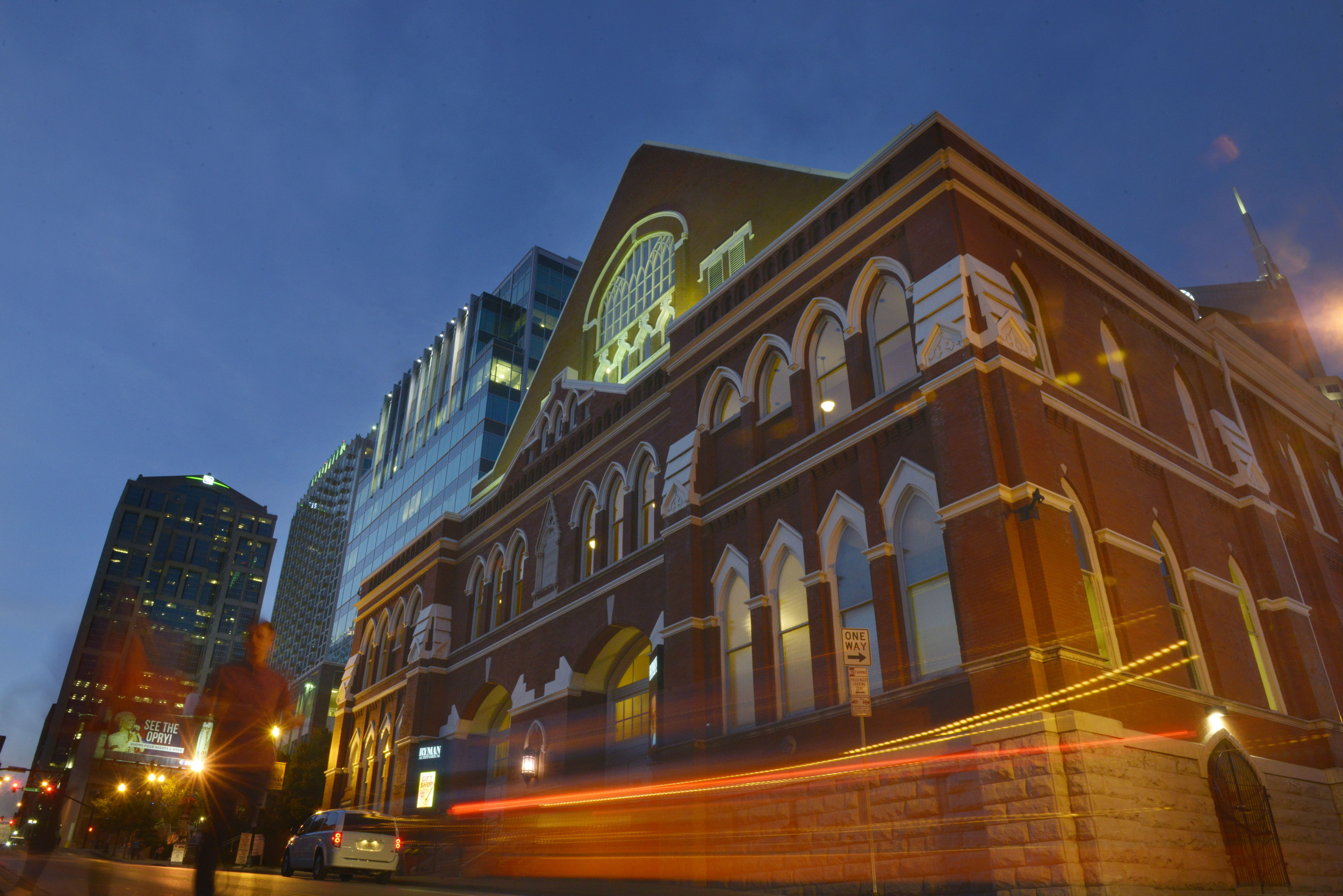 The Ryman, the famed auditorium known as the mother church of country music,  in Nashville, Tenn.
