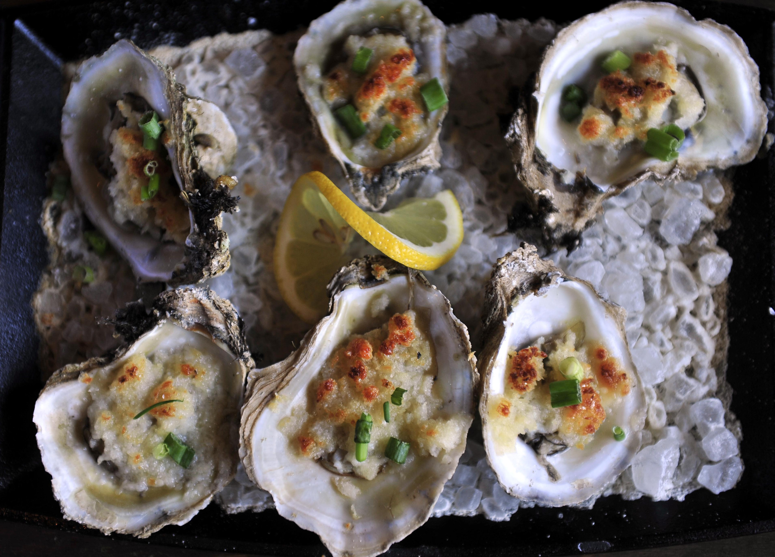 Roasted garlic & parmesan oysters at Urban Grub in Nashville, Tenn.