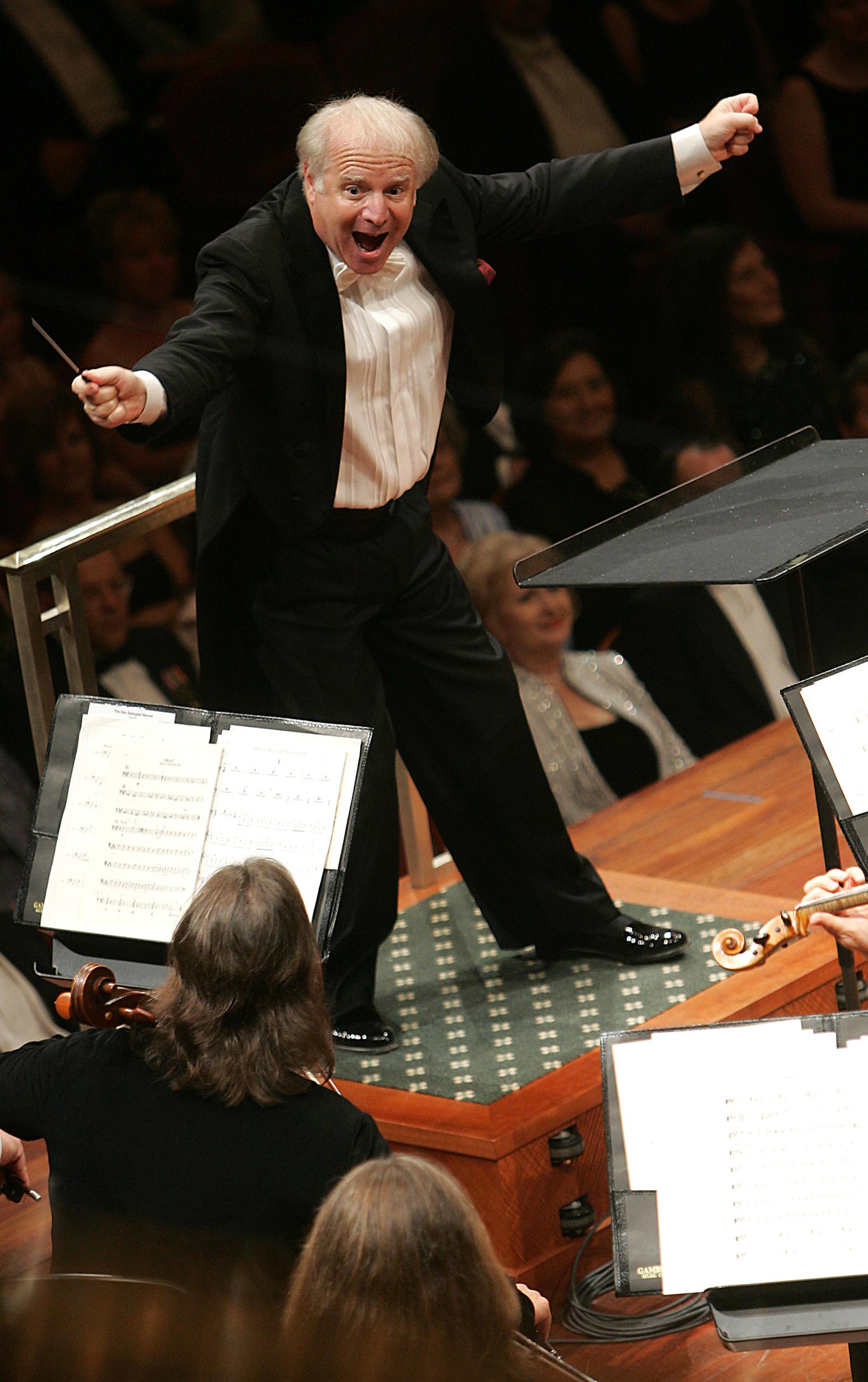 Leonard Slatkin leads the Nashville Symphony at the opening of the Schermerhorn Symphony Center, Saturday, September 9, 2006.