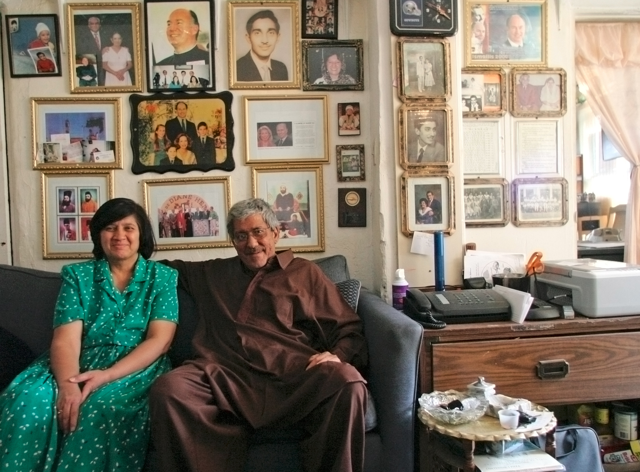 Shoky and Mohamed Natha, owners and residents of the Aztec motel in Albuquerque New Mexico in their small apartment on the premises.