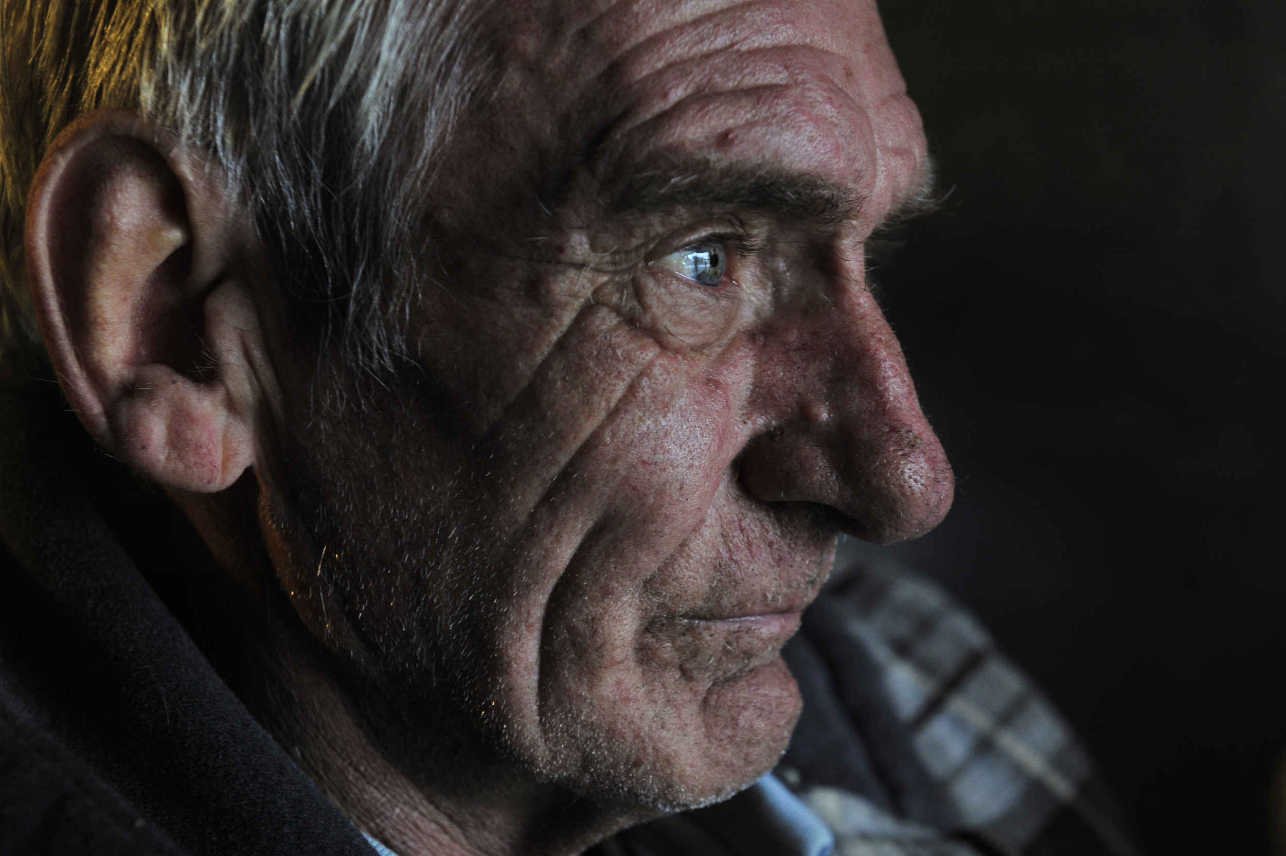 Ronnie Johnson, diagnosed with late-stage cancer, lives in an uninsulated shed behind a gas station in Thompson Station, Tenn. Town residents raised money for health care costs and an apartment.