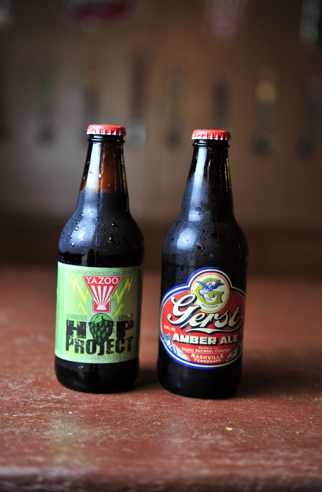 Gerst Amber Ale and Hop Project at Yazoo brewery.