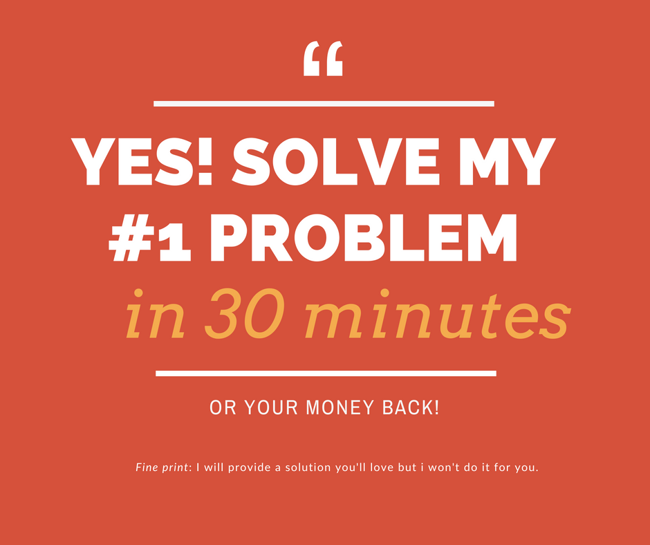 Just give me the solution! - 1. Click, book in a time that suits you and securely pay .2. Irena sends you a pre-call survey so you can both prep for your meeting and you can make the most of the call.3. At the scheduled time Irena calls you and SOLVES YOUR PROBLEM by giving you at least 1 great next step that you can do immediately to get unstuck and get going.5. You implement it.