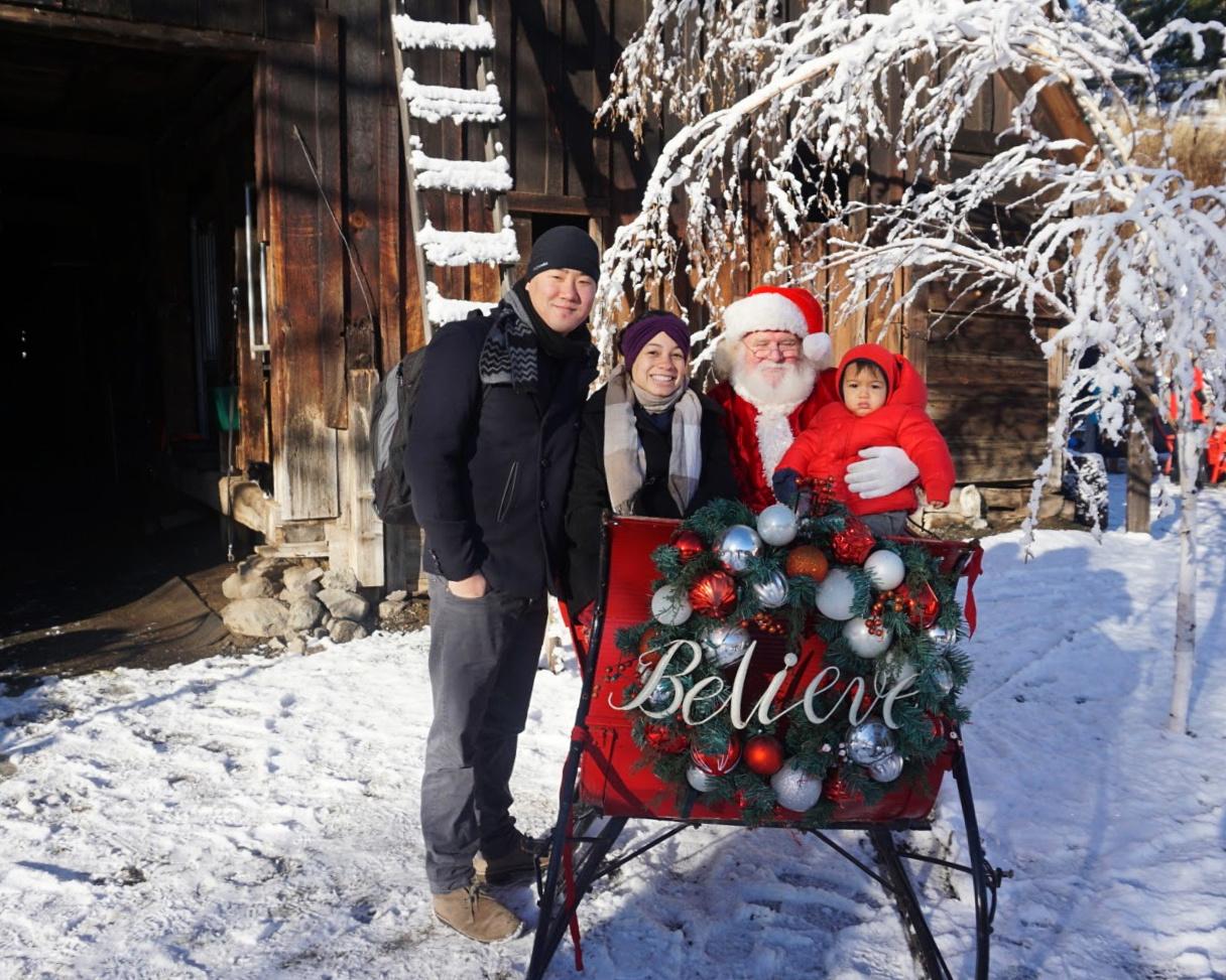 Meeting Santa at Leavenworth Reindeer Farm