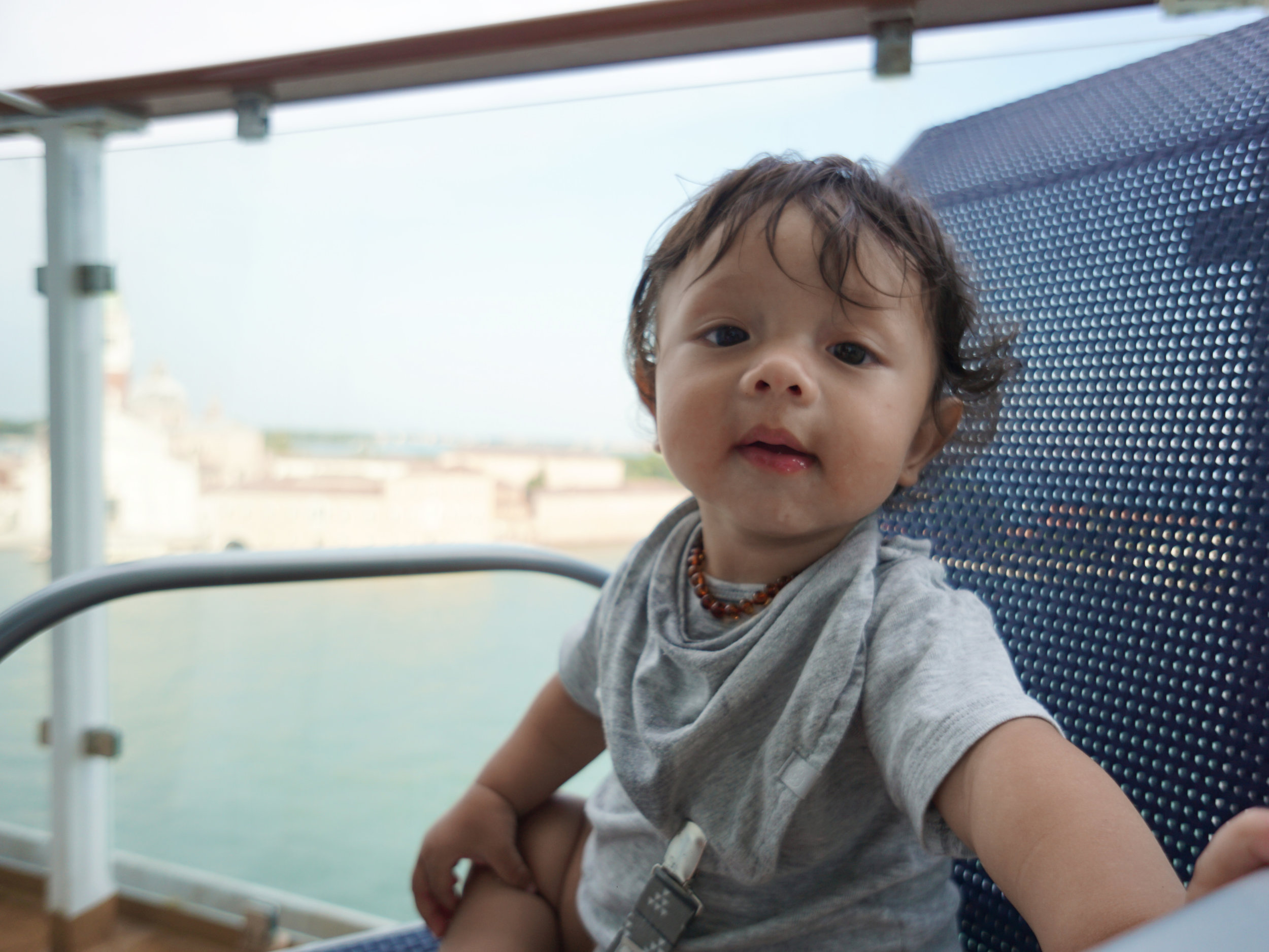 Orlo (7 months old) cruising out of Venice