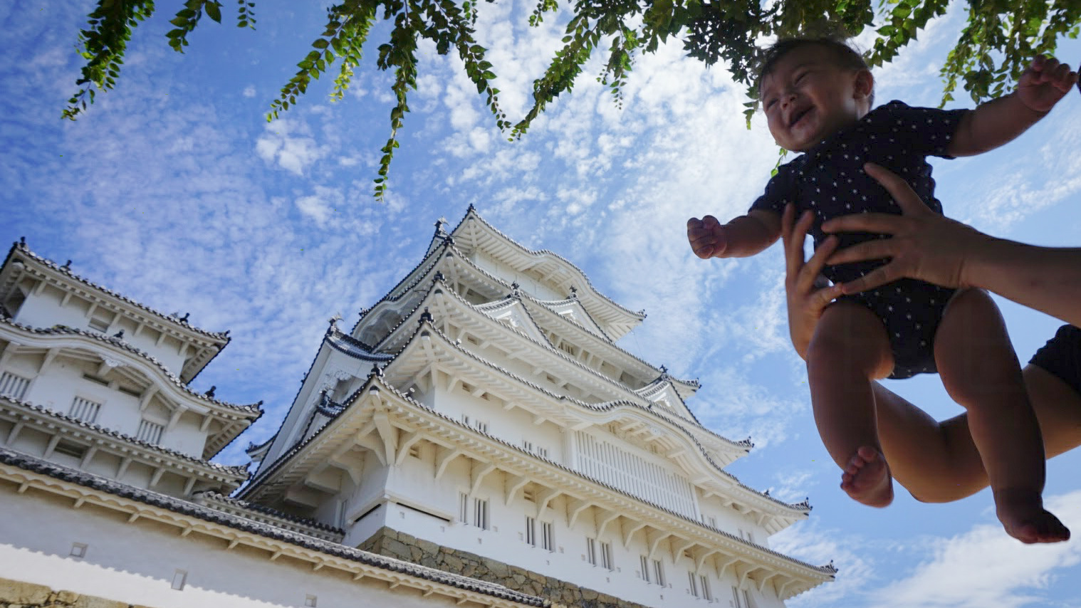 Elden (7 months old) on his first international trip to Japan