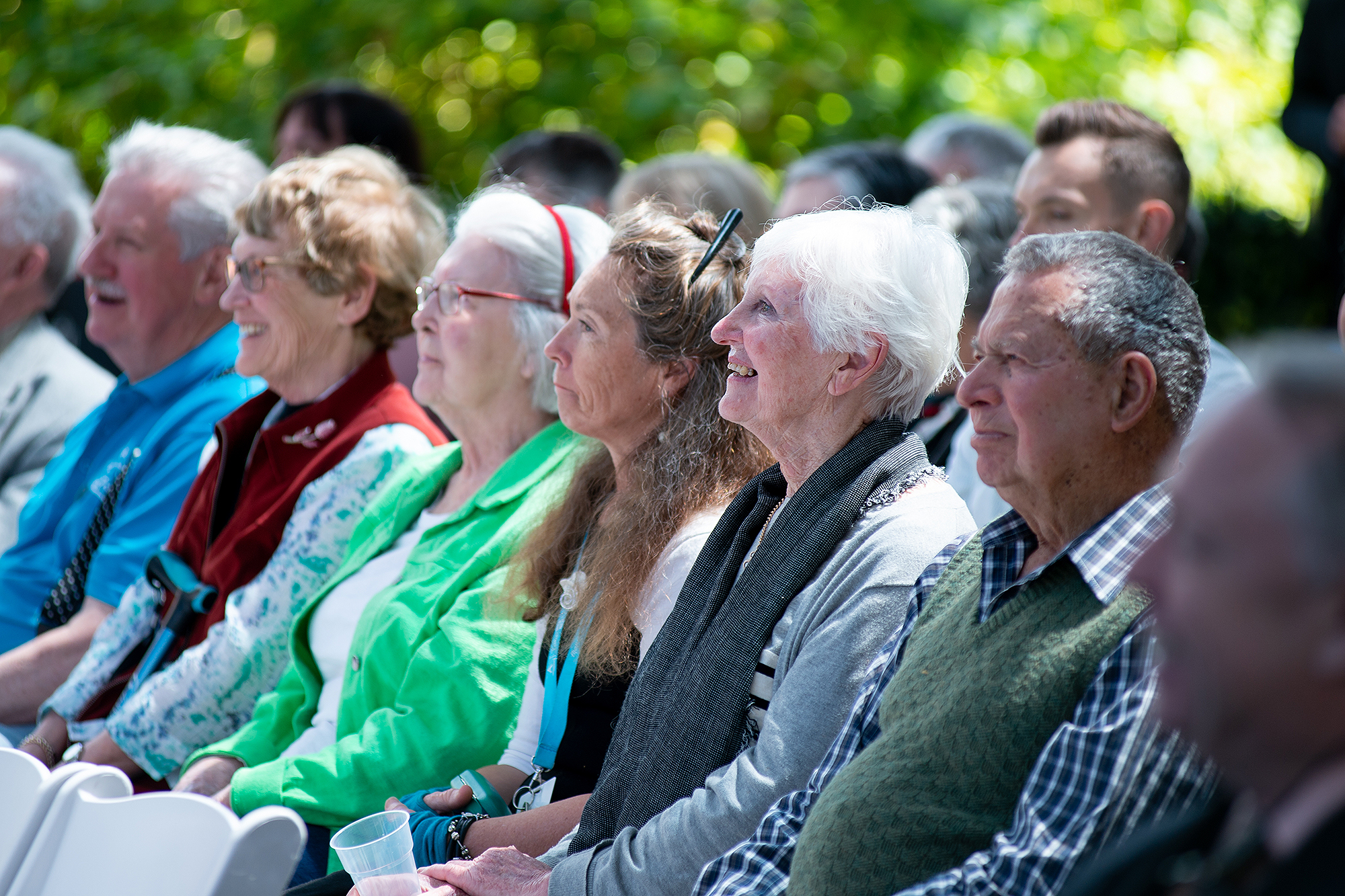Community members at the launch of the Global Centre for Modern Ageing.