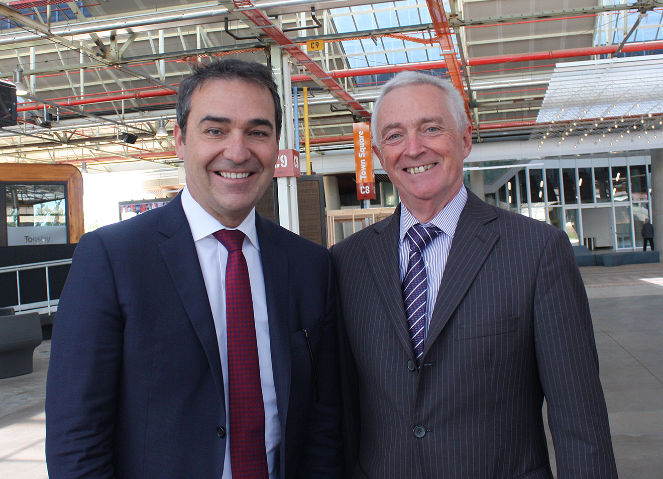 South Australian Premier Steven Marshall and Tonsley Innovation District steering committee chair Terry Burgess.