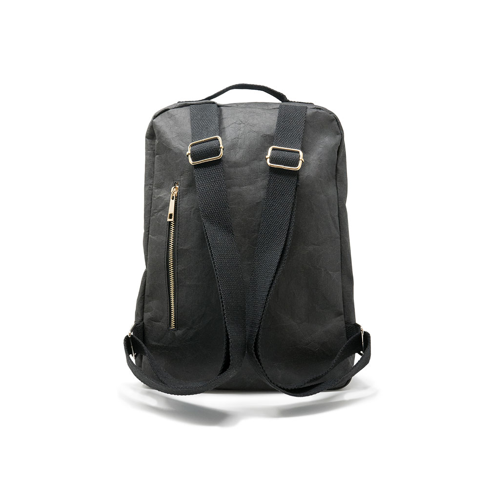 Features - - Minimalist backpack- Designed in the UK- Made from jacron paper- Water-repellent- Sustainable and vegan-friendly materials