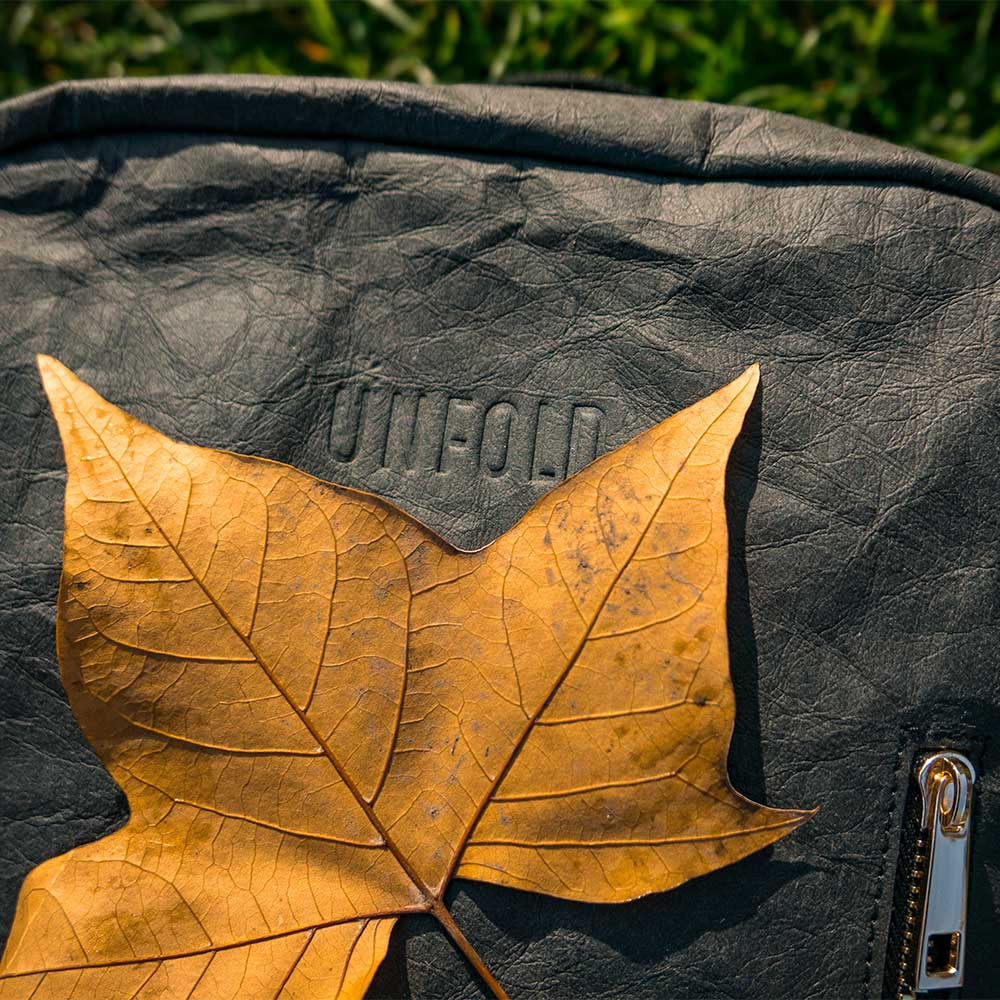Sustainability - Jacron paper is biodegradableCellulose made using sustainable forestry in IndiaOrganic cotton lining and strapsCruelty-free production, no animals hurt or animal products usedPlant-based dyes