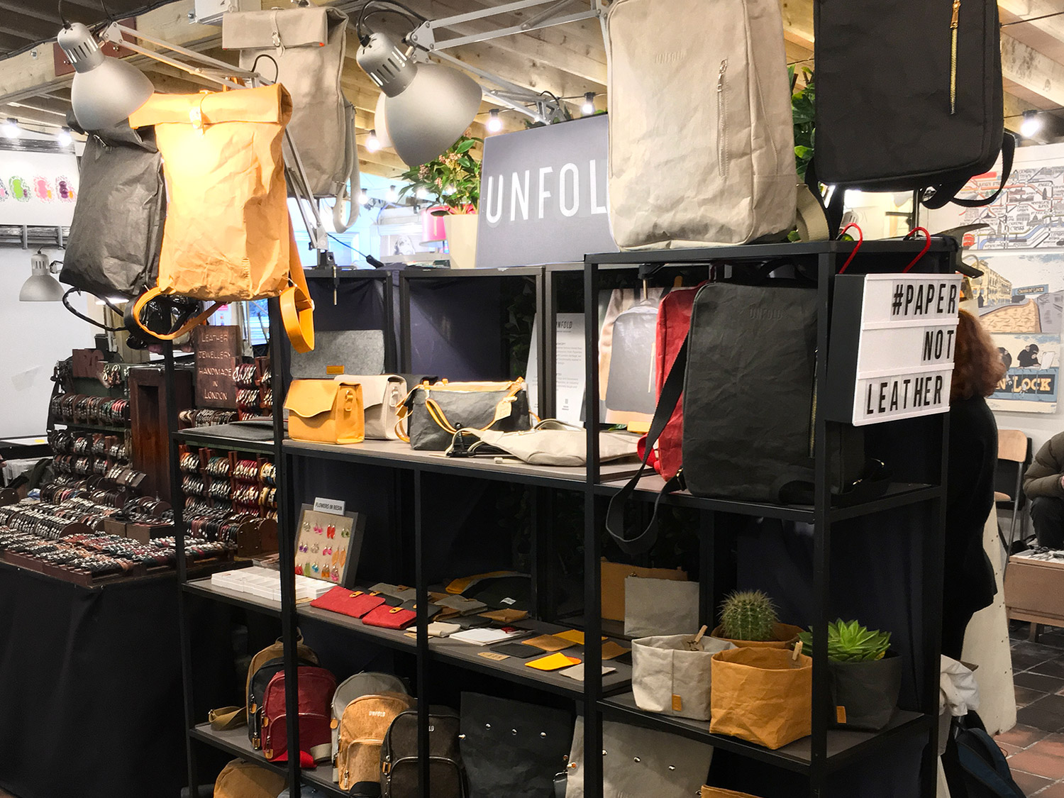 Camden Market Stall - Unfold has a market stall at the world famous Camden Market in North London. You can find us inside the Market Hall, on the 1st floor, where the arts & crafts zone is. We are open 10-6, daily.Come say hi!