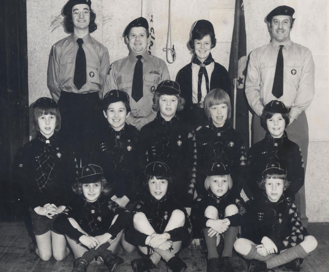 Richard (bottom right) as a cub scout in Stocksfield, Northumberland. His mother, Pippa, was Akela (back row). Scouting was a formative part of his youth.