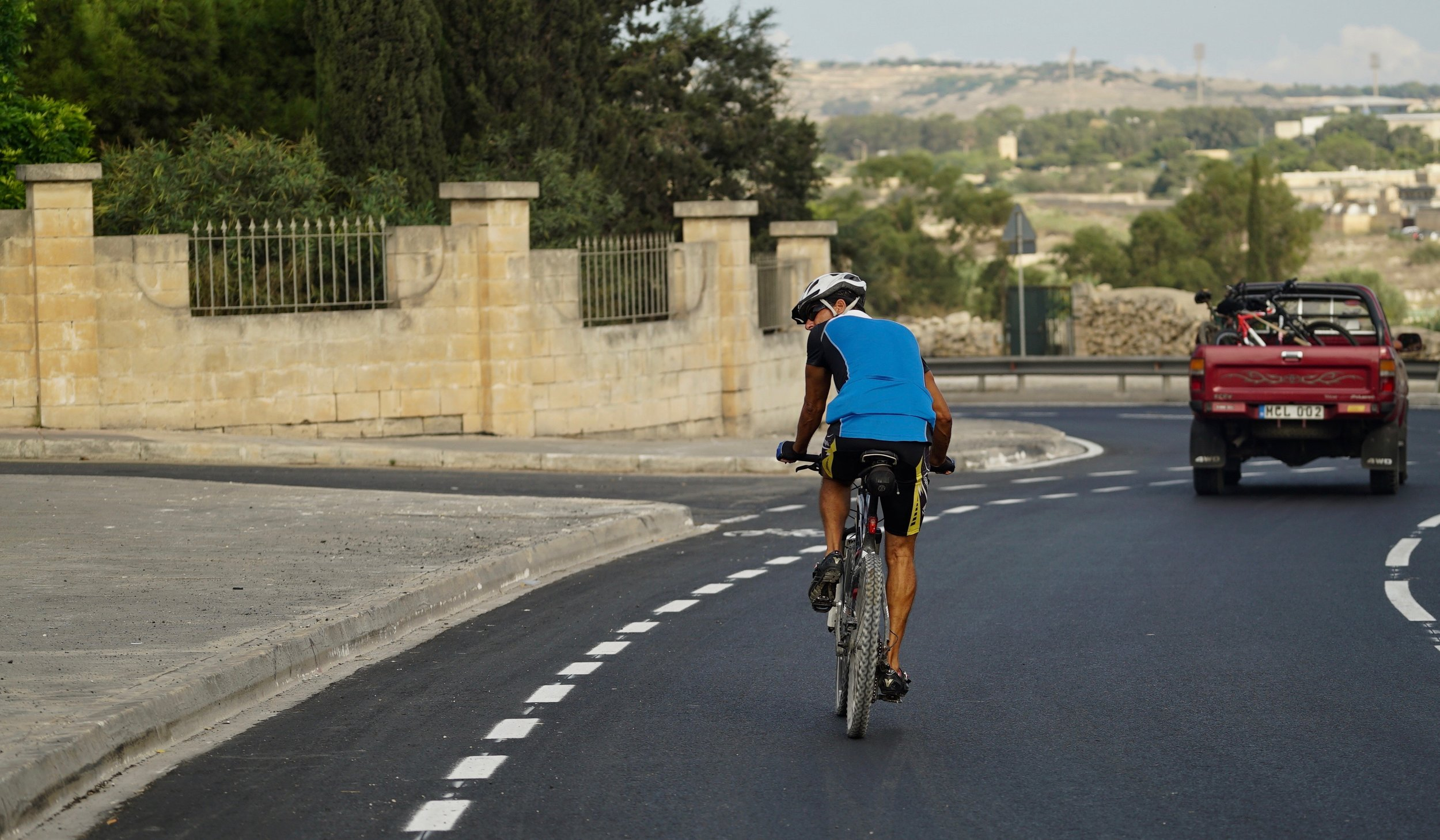 Cyclists are reluctant to use the new bicycle roundabout lanes as they encourage left hooking and vulnerable conflict with vehicles.