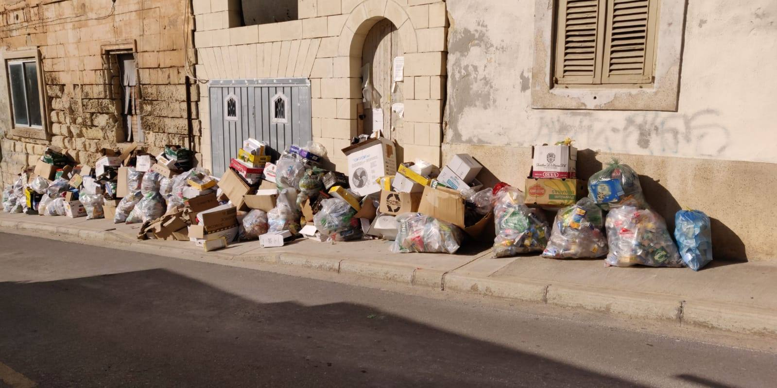 Street in Sliema this morning - a sight too common around Malta