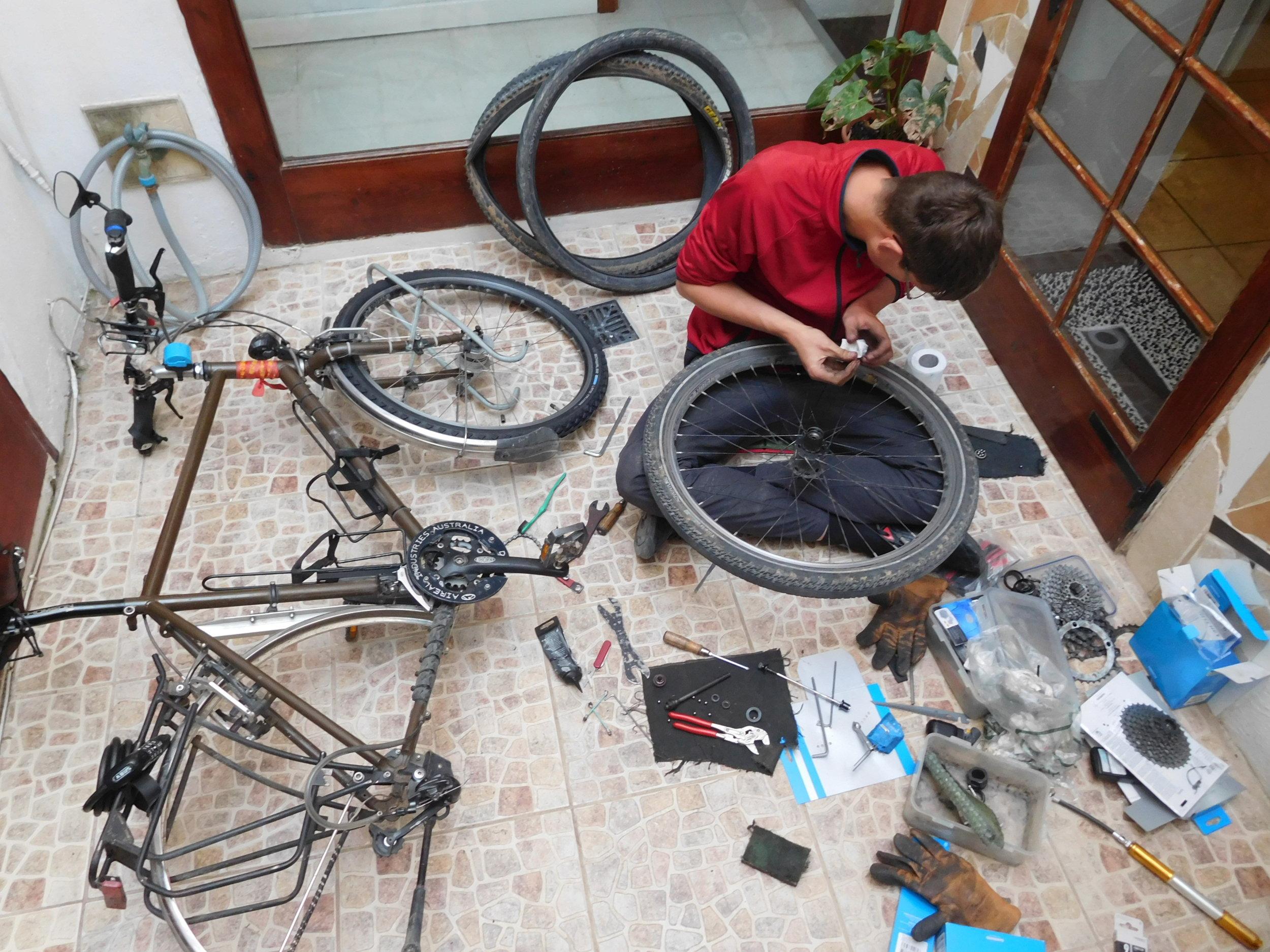 14. Working on Bikes.JPG