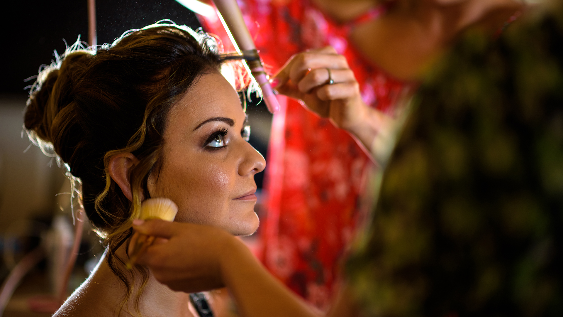 Our bride is being glammed up on her special day.  Turtle Bay Resort, North Shore, Hawaii.