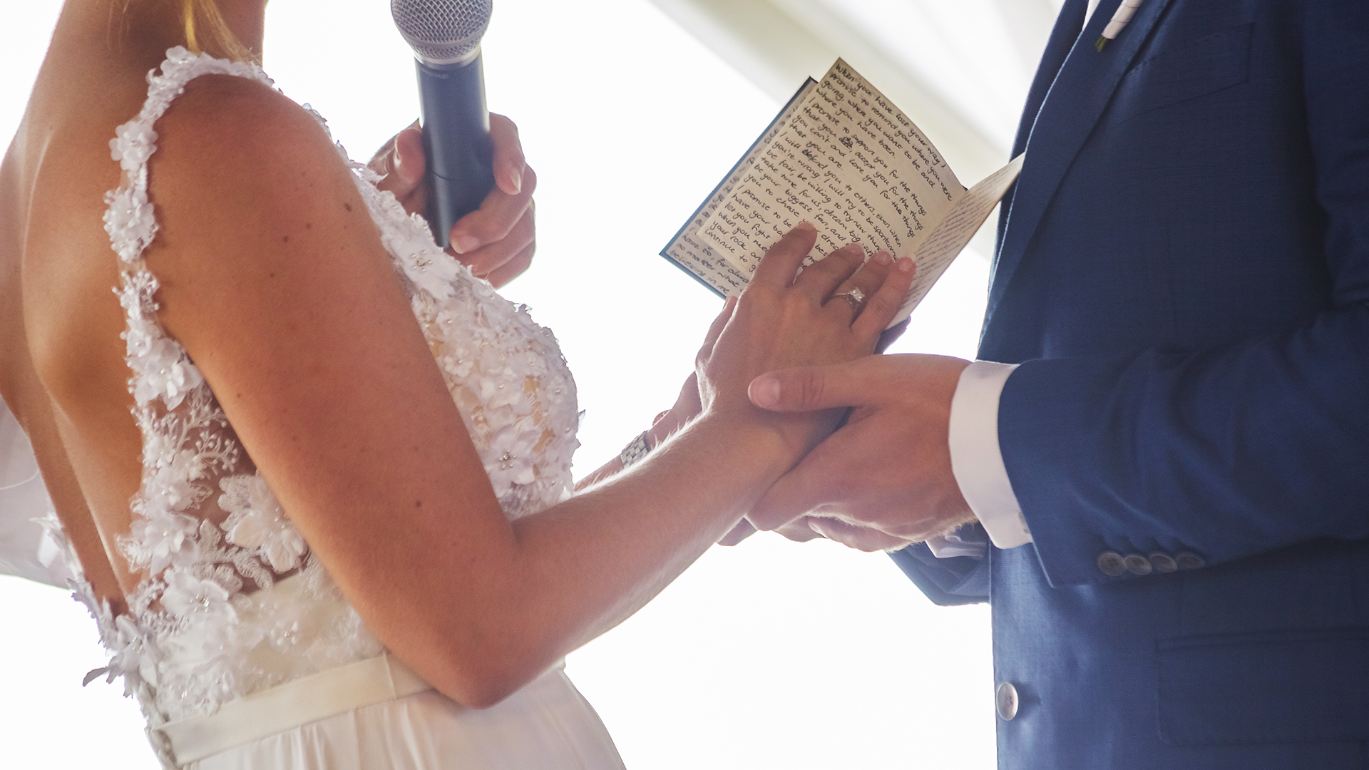 Exchanging vows with a personal touch.  Turtle Bay Resort, North Shore, Hawaii.