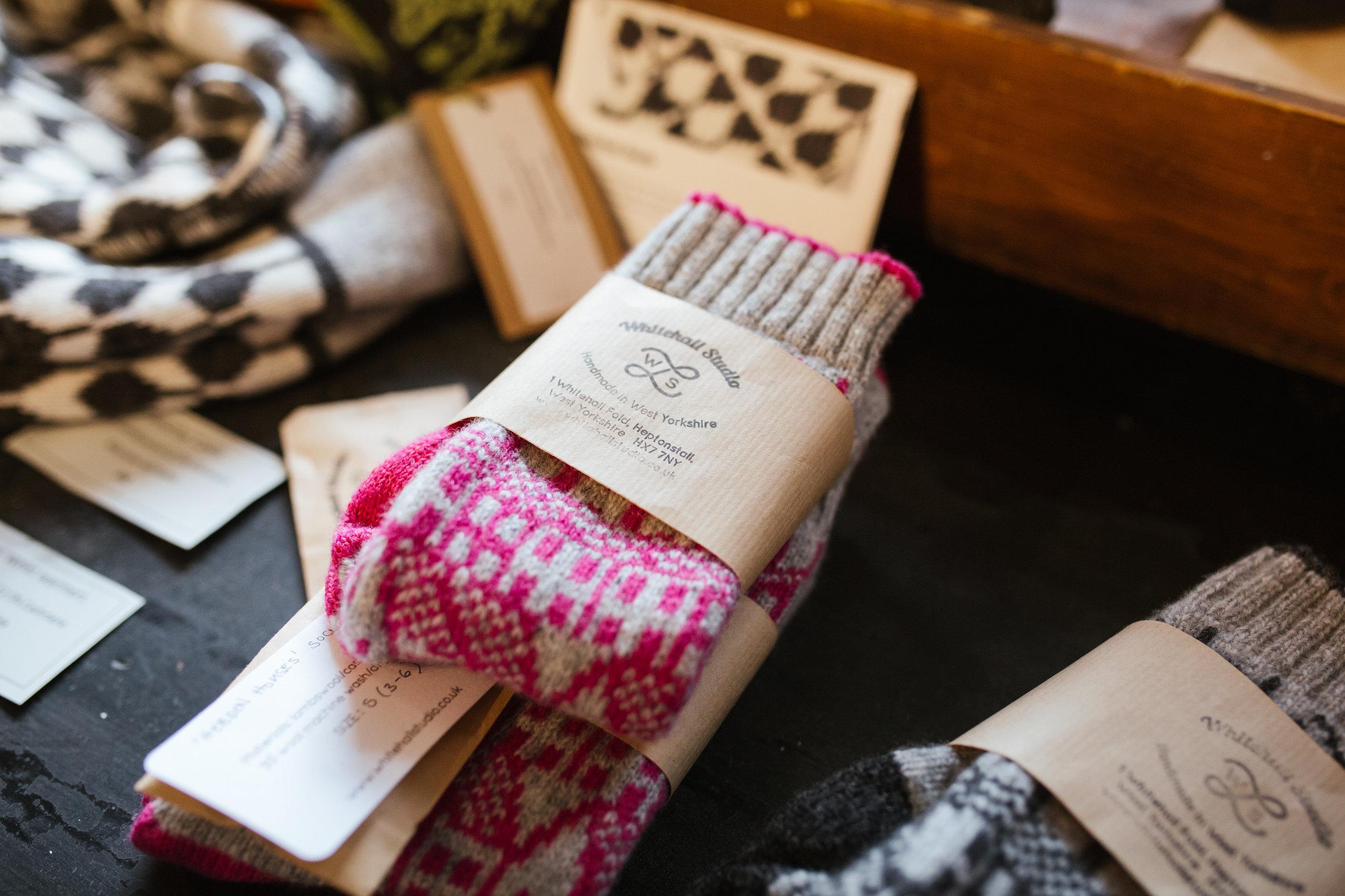 Luxury cashmere socks from Whitehall Studio
